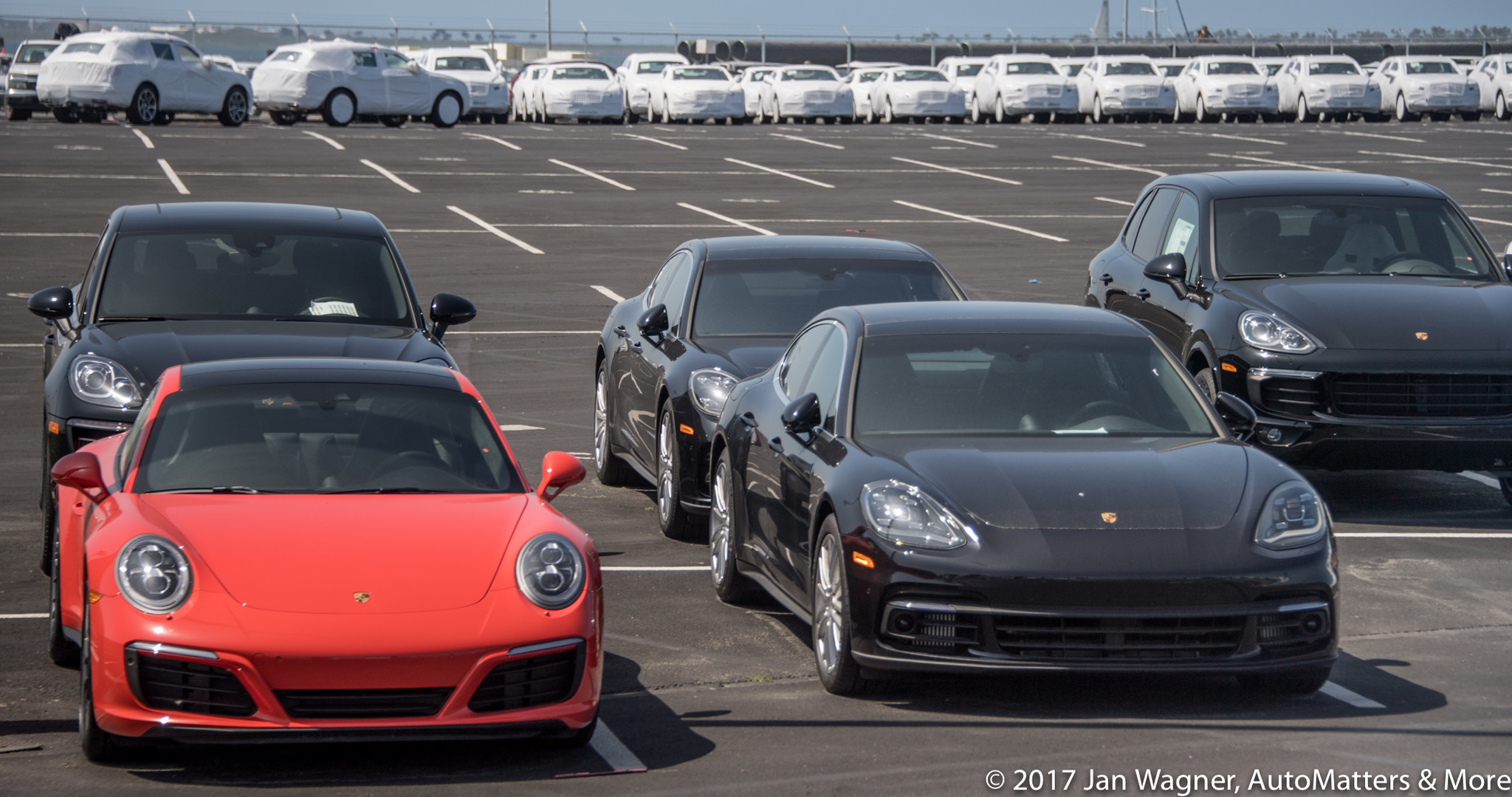 New Porsches at the Port of San Diego