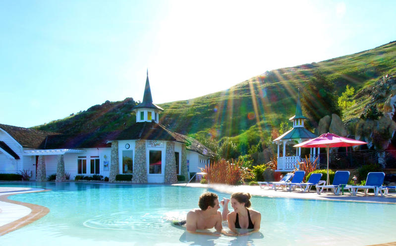 The pool at the Madonna Inn.