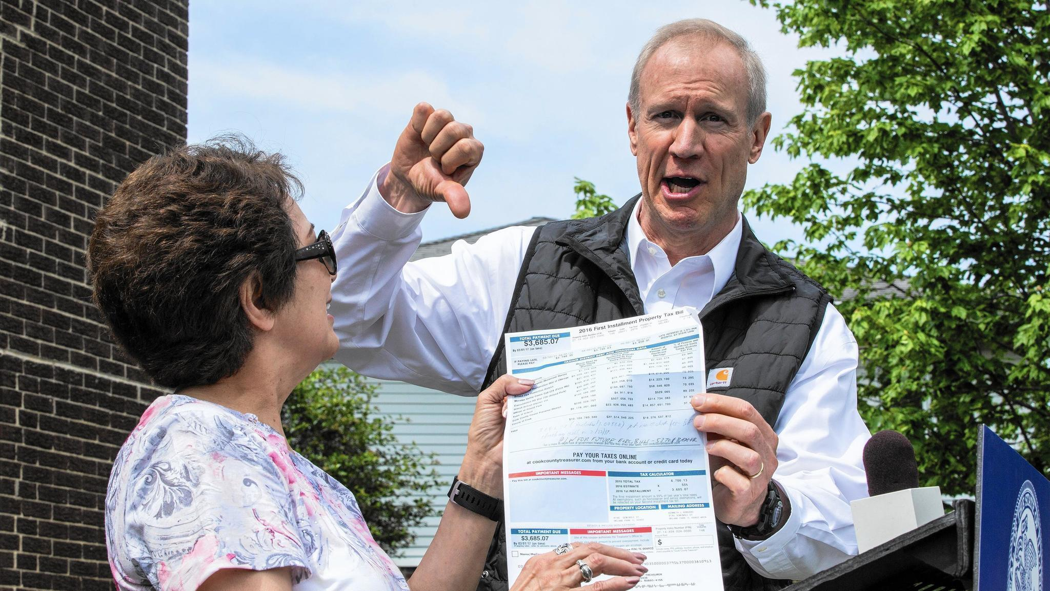 Rauner pushes for property tax freeze as time winds down in Springfield