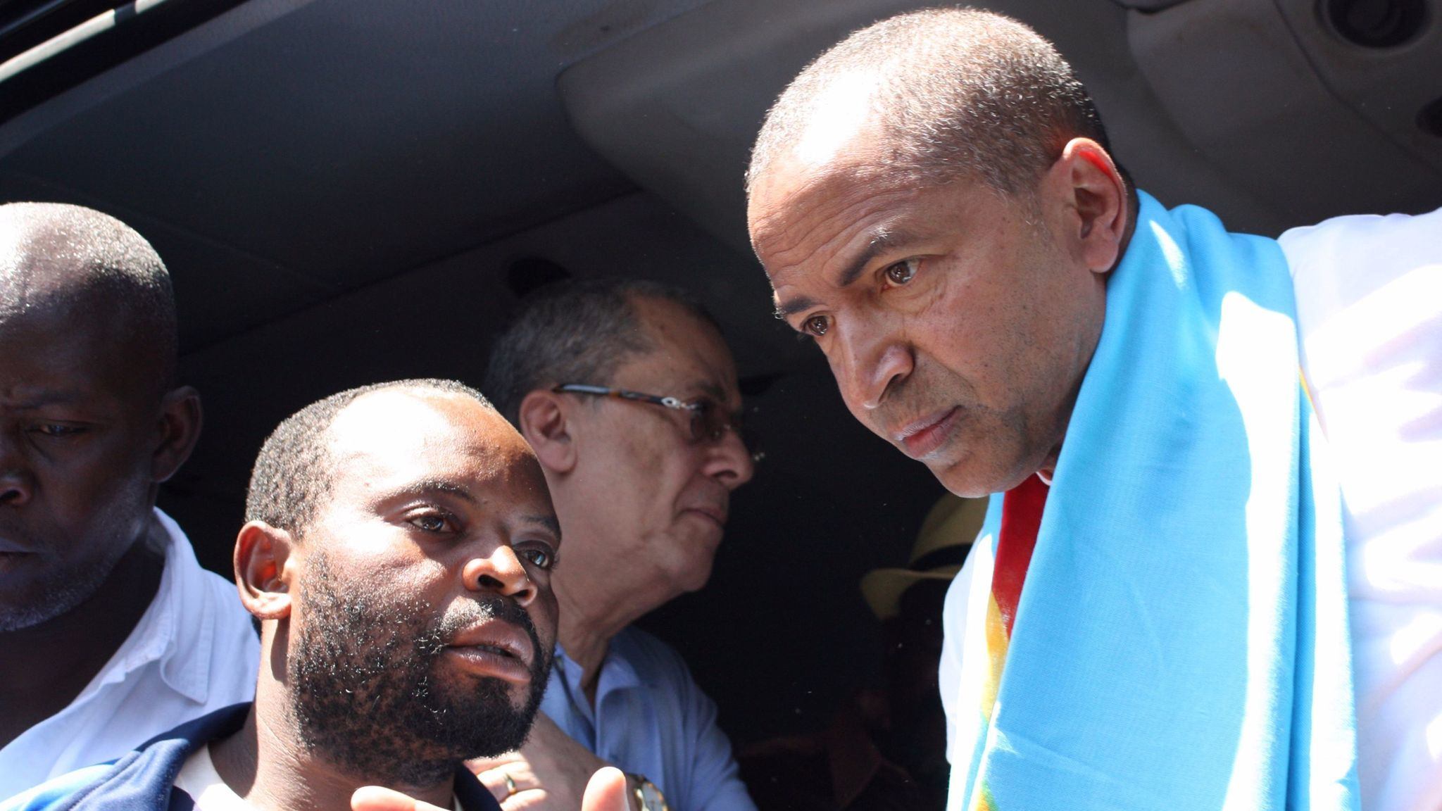 Opposition figure Moise Katumbi arrives at a courthouse in Lubumbashi, Democratic Republic of Congo, in May last year, accused of hiring foreign mercenaries to topple the government.