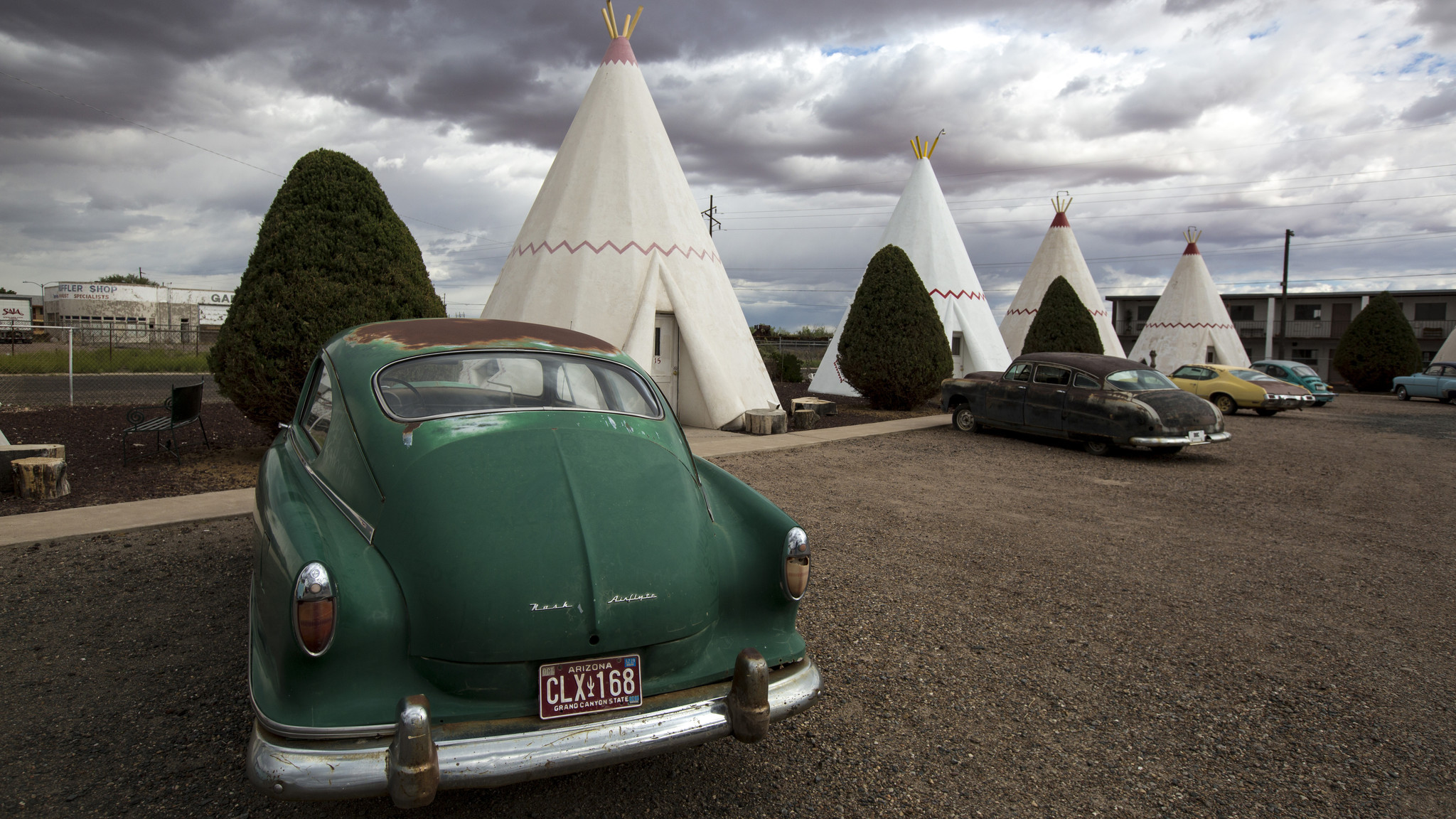The Wigwam Motel on the iconic Route 66 in Holbrook, Arizona.