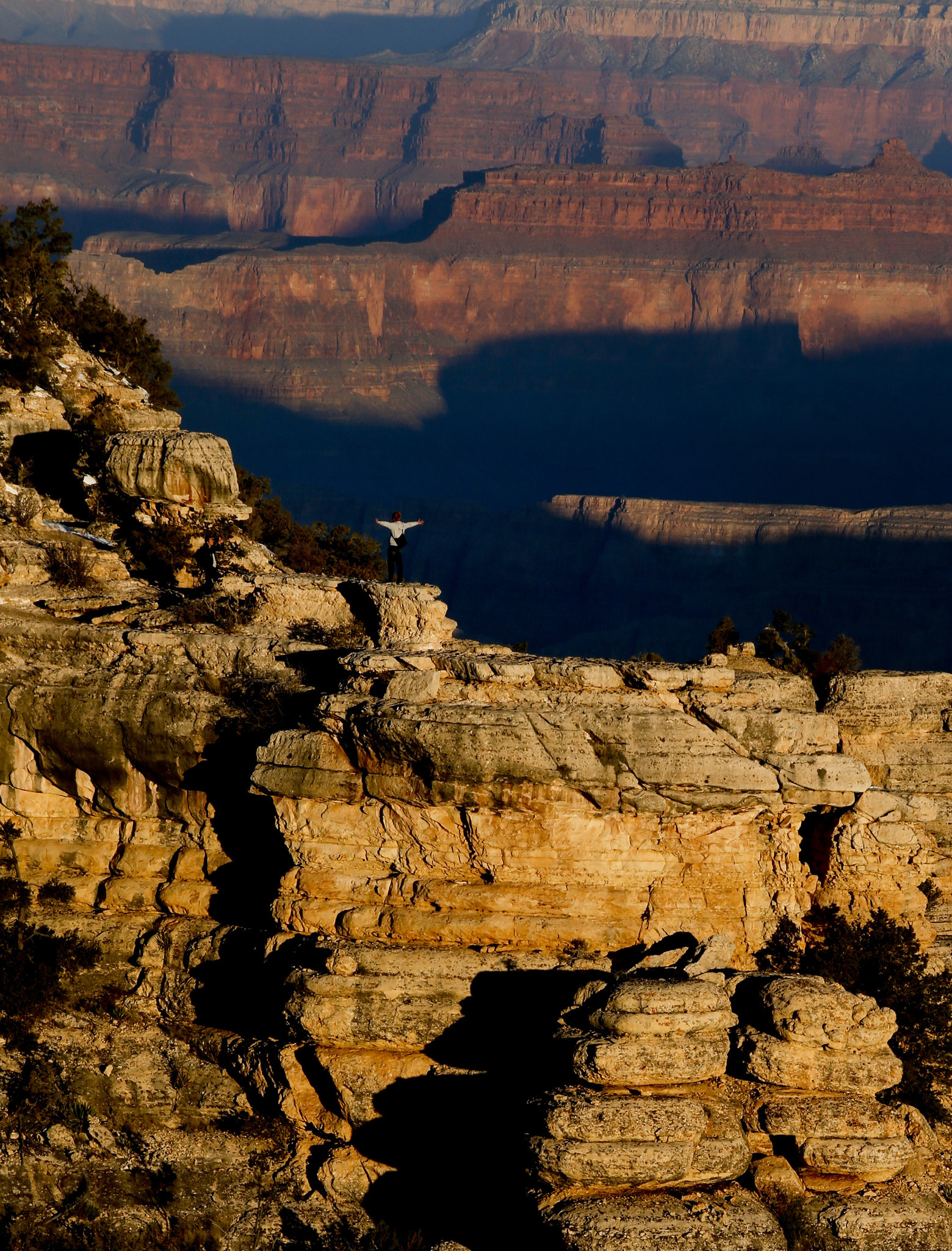 The Grand Canyon's South Rim is ideal for a sit-down.