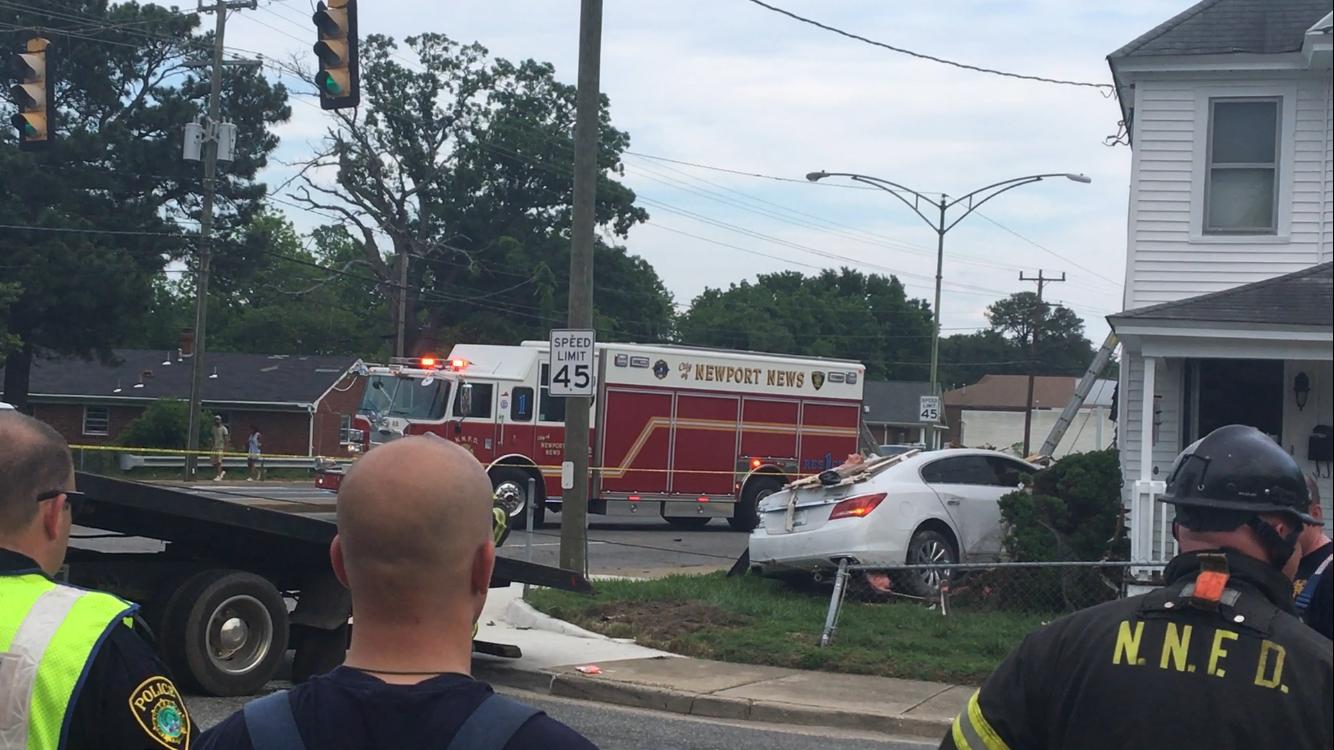 car crashes into newport news home saturday - daily press