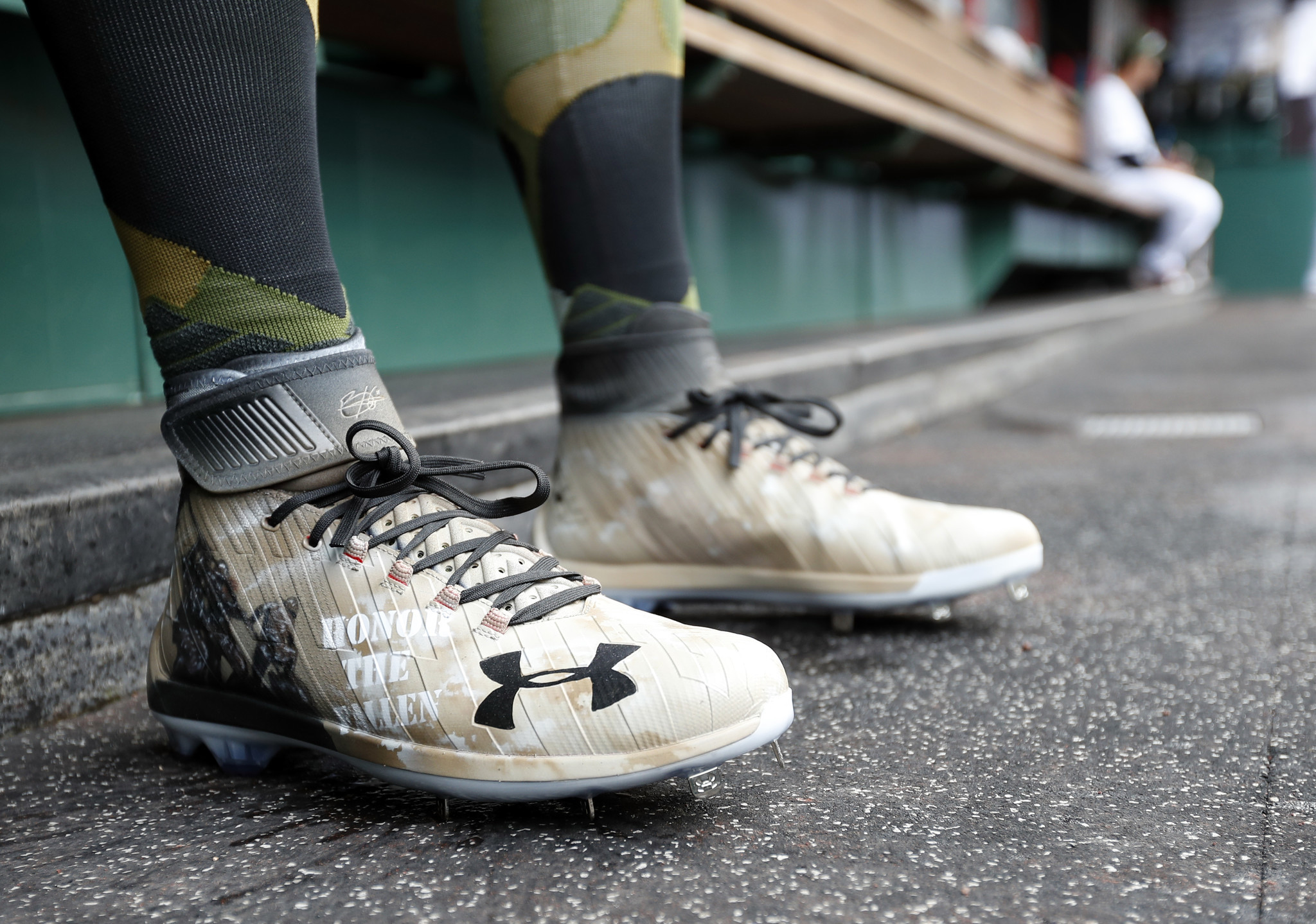 bf1f5359435f Nationals star, Under Armour endorser Bryce Harper shares Memorial Day  inspired shoes - Baltimore Sun