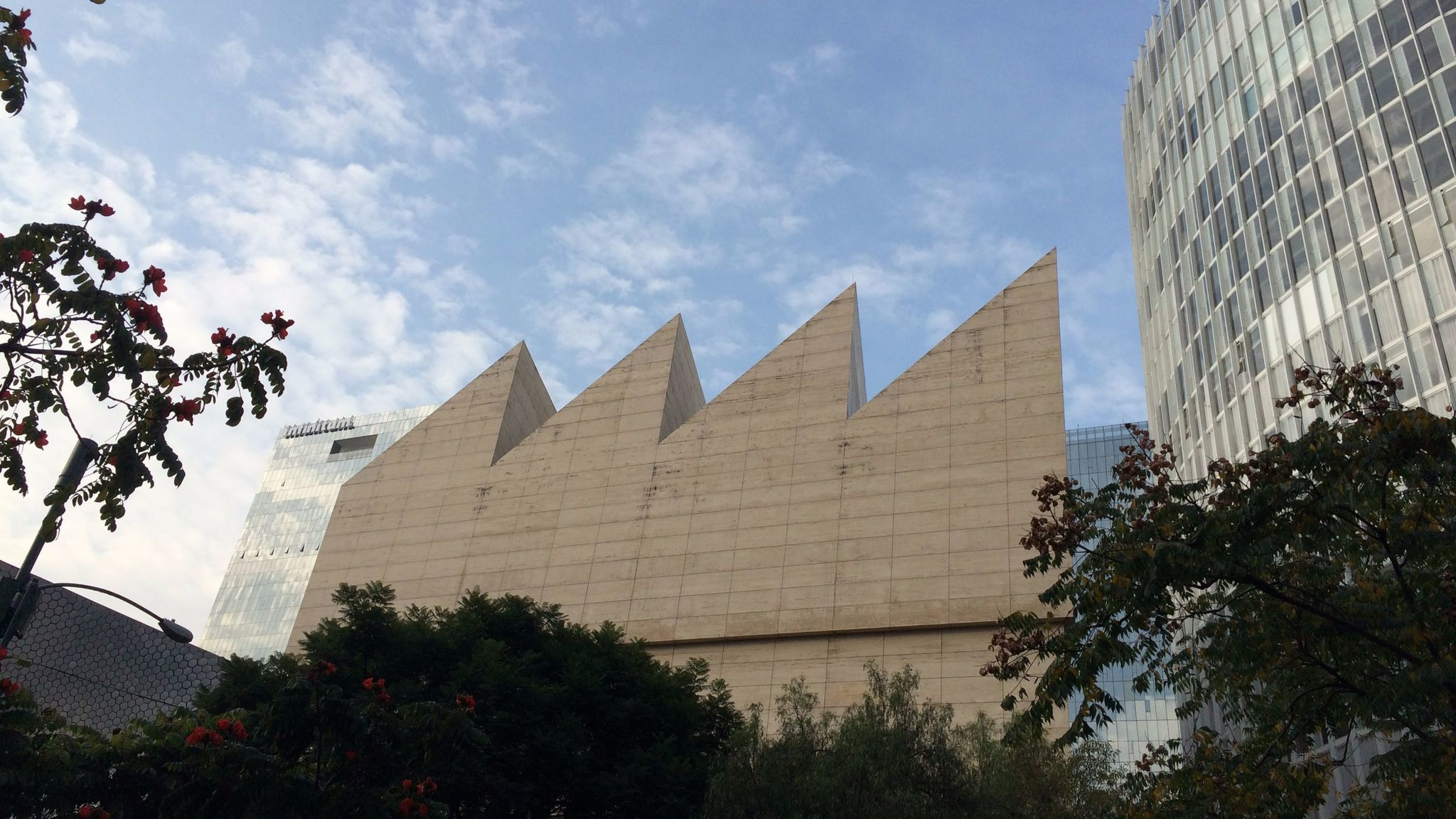 A view of the Museo Jumex, designed by British architect David Chipperfield and opened in 2013.