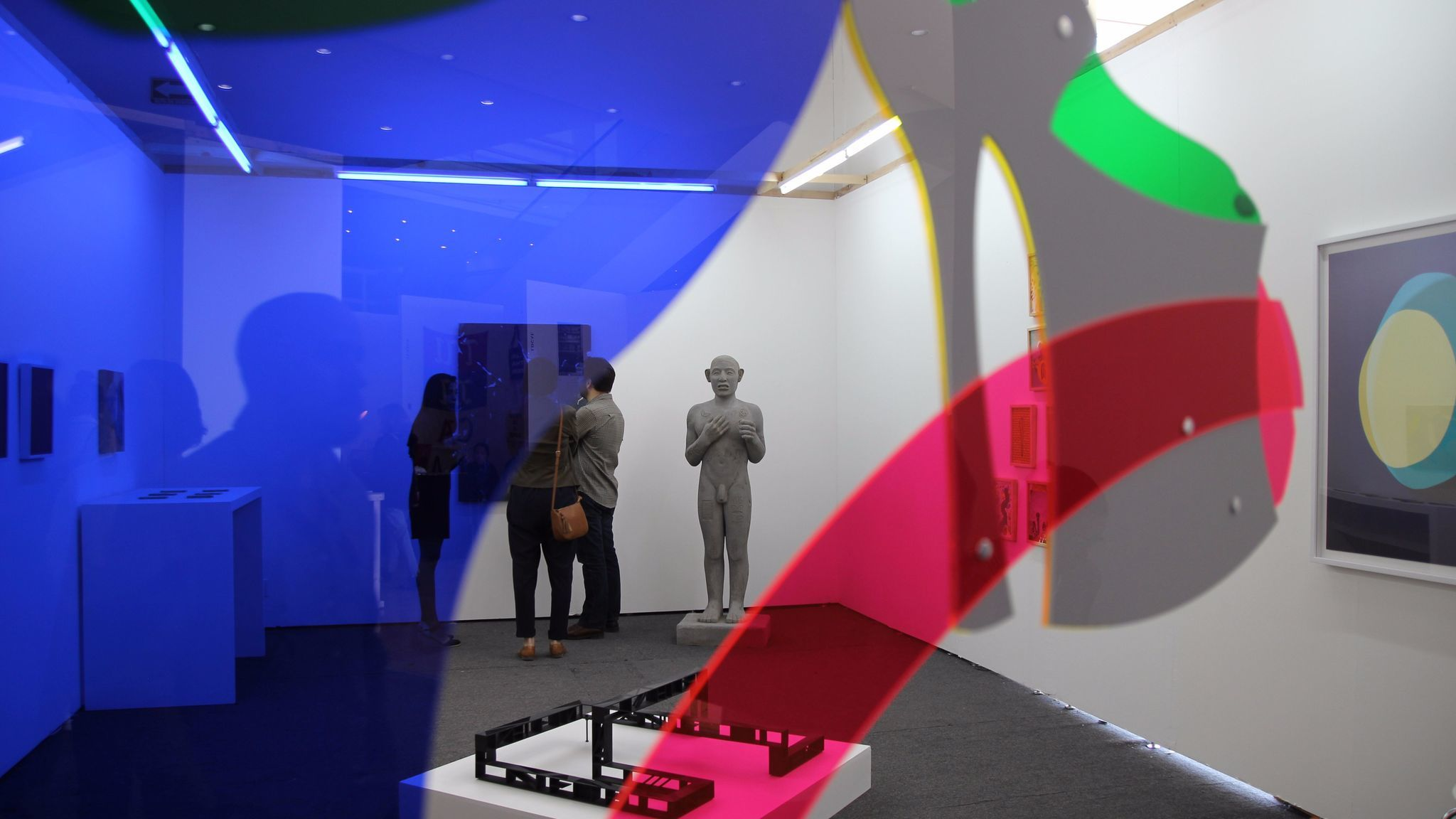 An installation view of works from the independent art space Yautepec at the Material Art Fair in Mexico City in February.