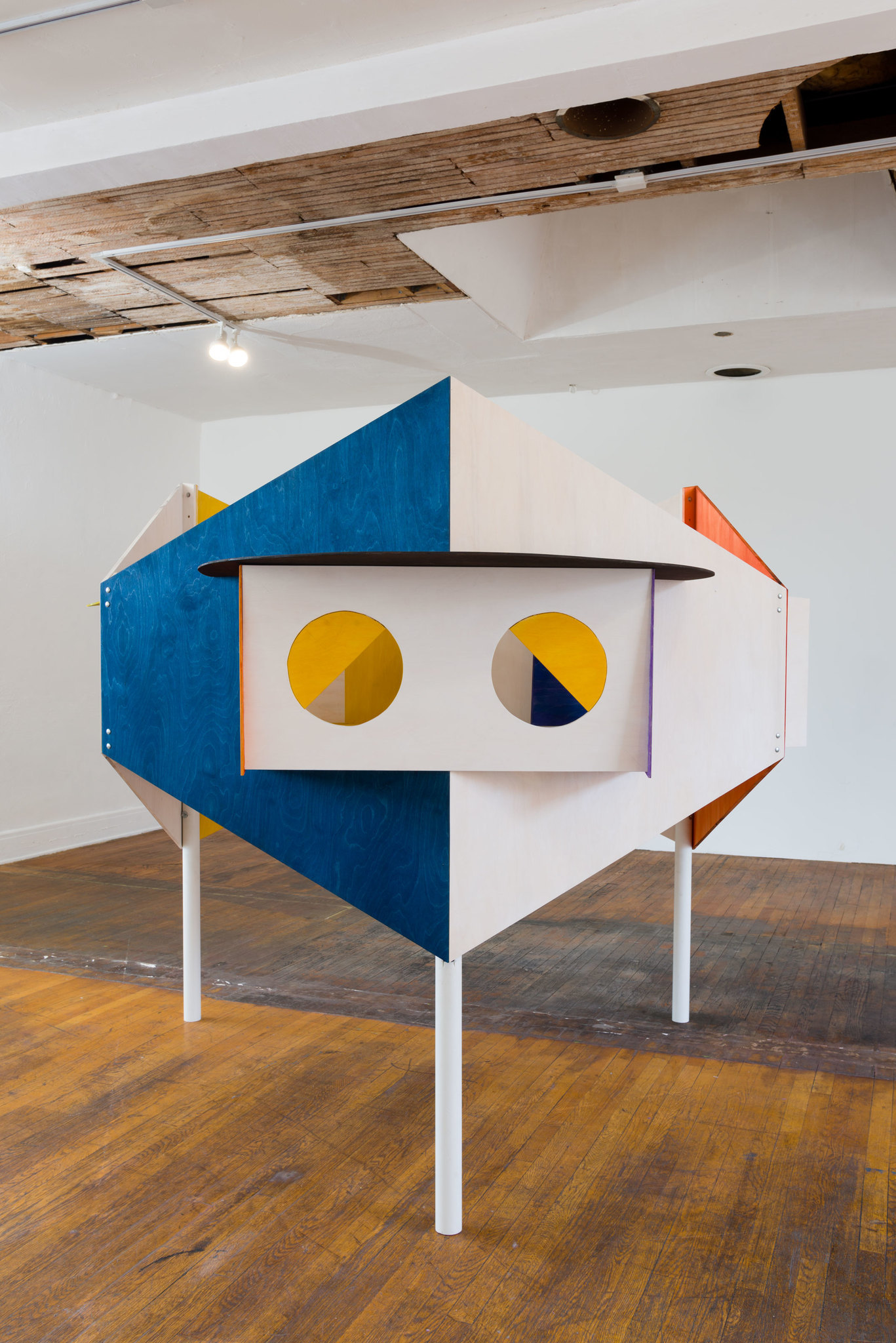 """Sculptor Alice Könitz, whose work """"Kiosk,"""" is seen here, has created a series of sculptural works for the Mt. Wilson show that aid in solar observation."""