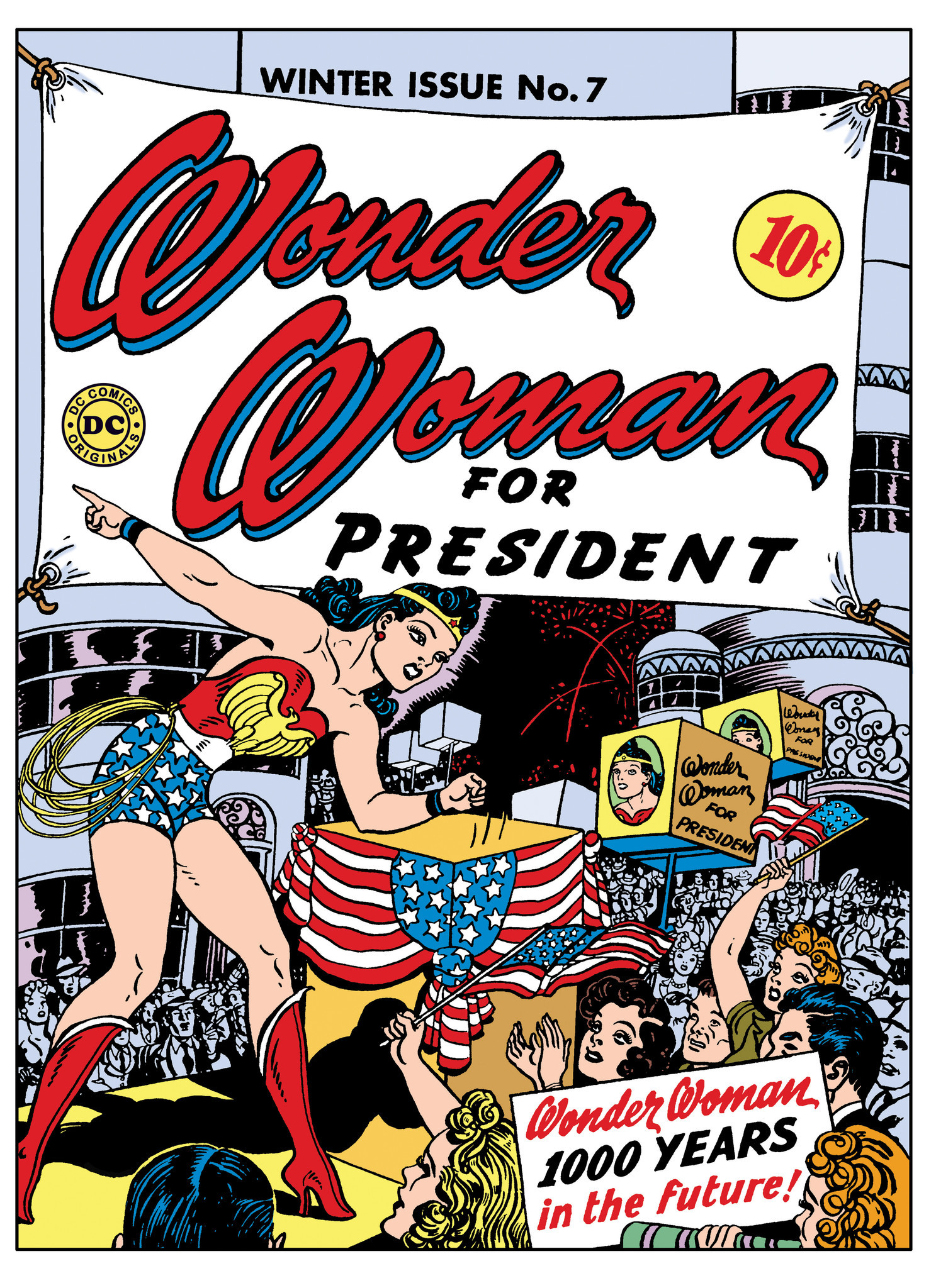 """The cover of """"Wonder Woman"""" no. 7."""