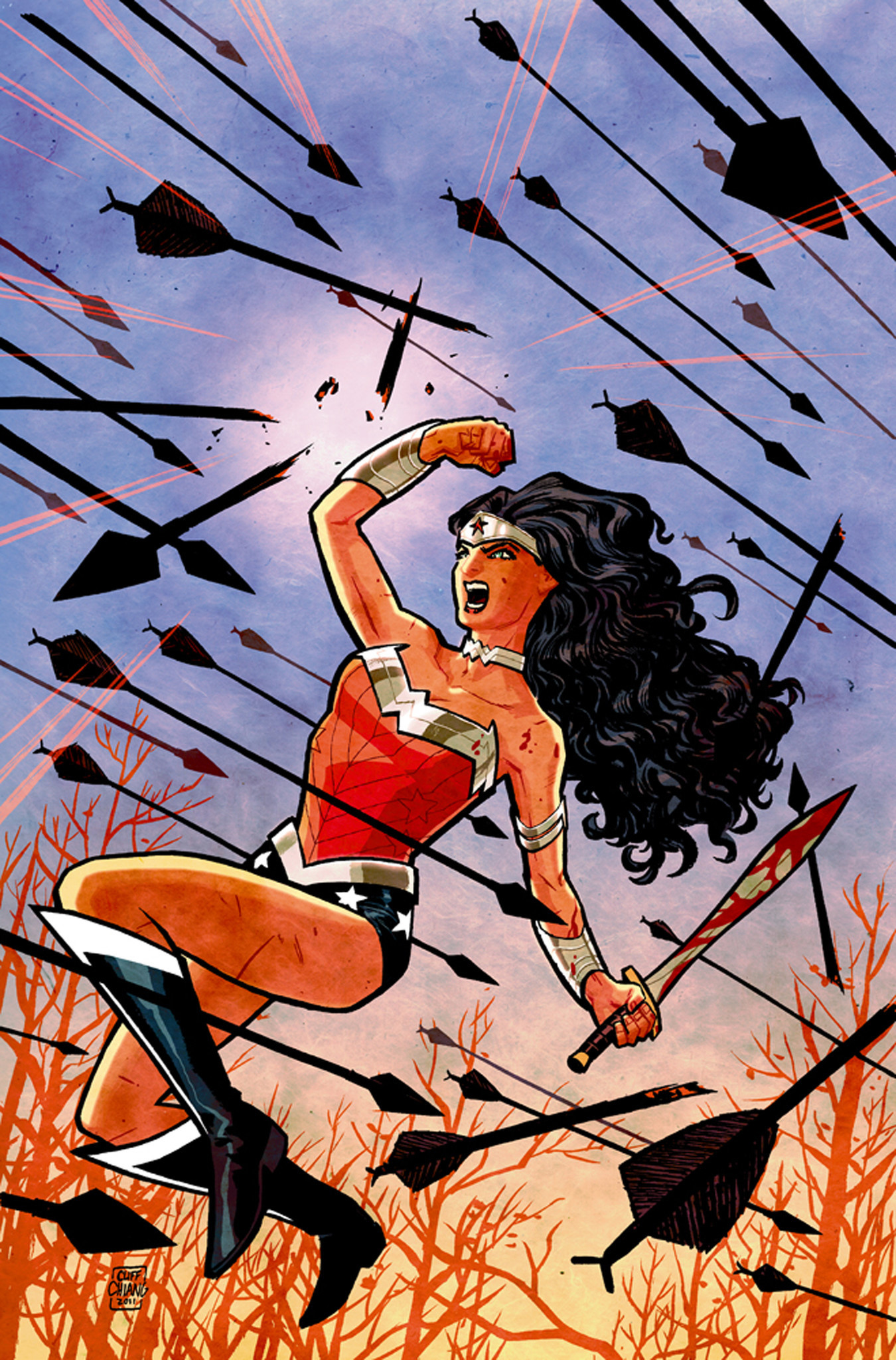 """Cover of """"Wonder Woman"""" no. 1."""