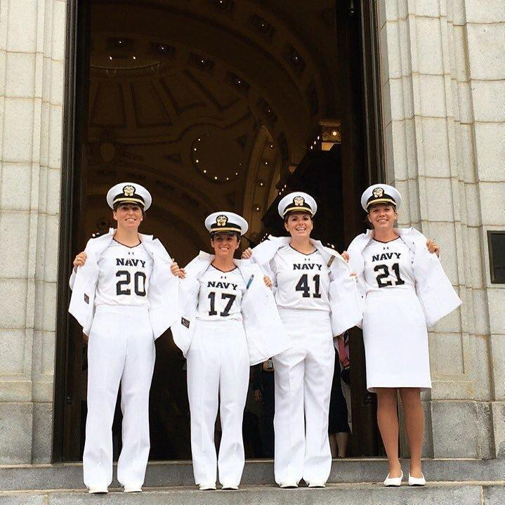Women Lacrosse Players Graduate From Naval Academy In