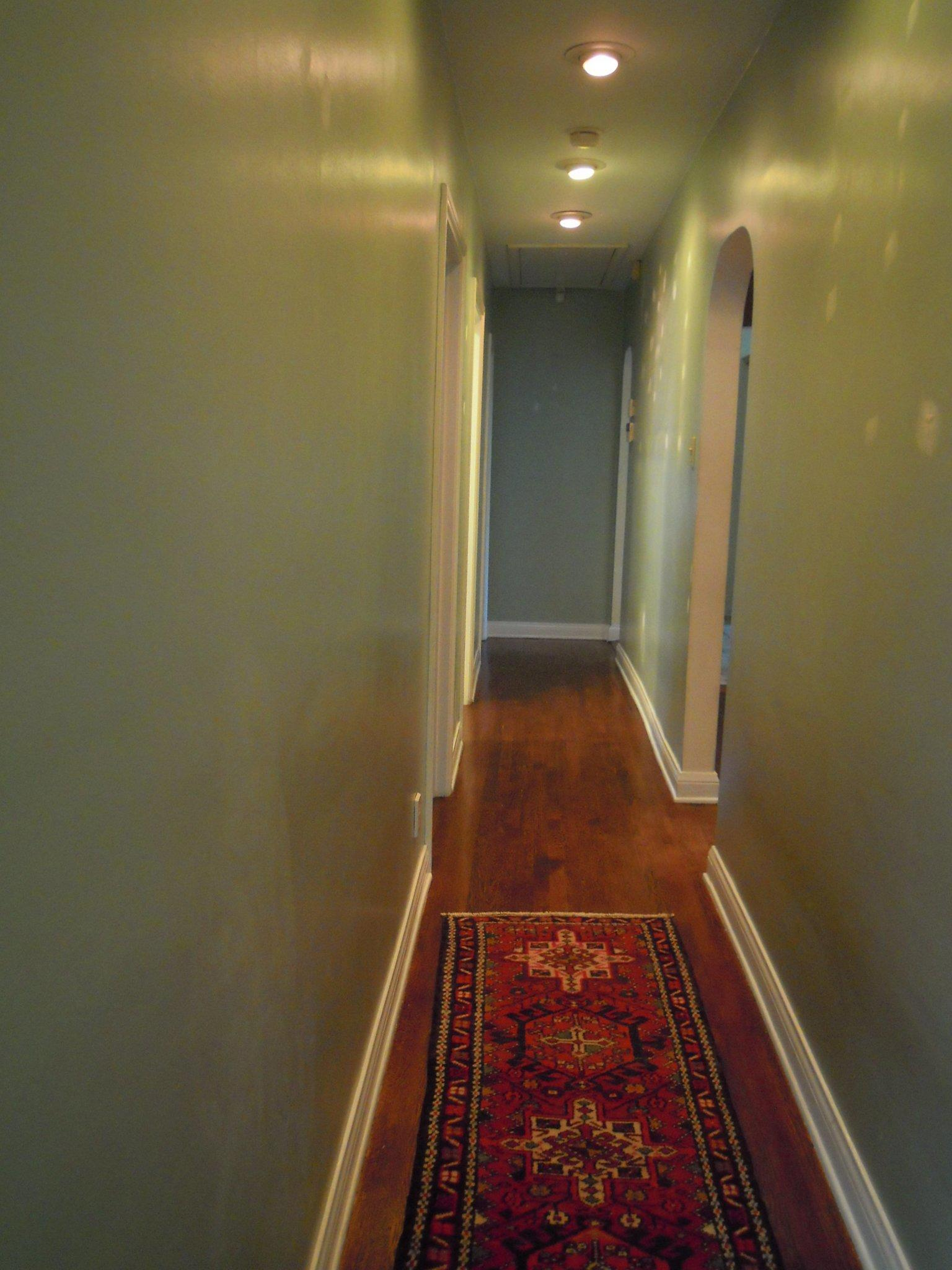 Before picture of the hallway.