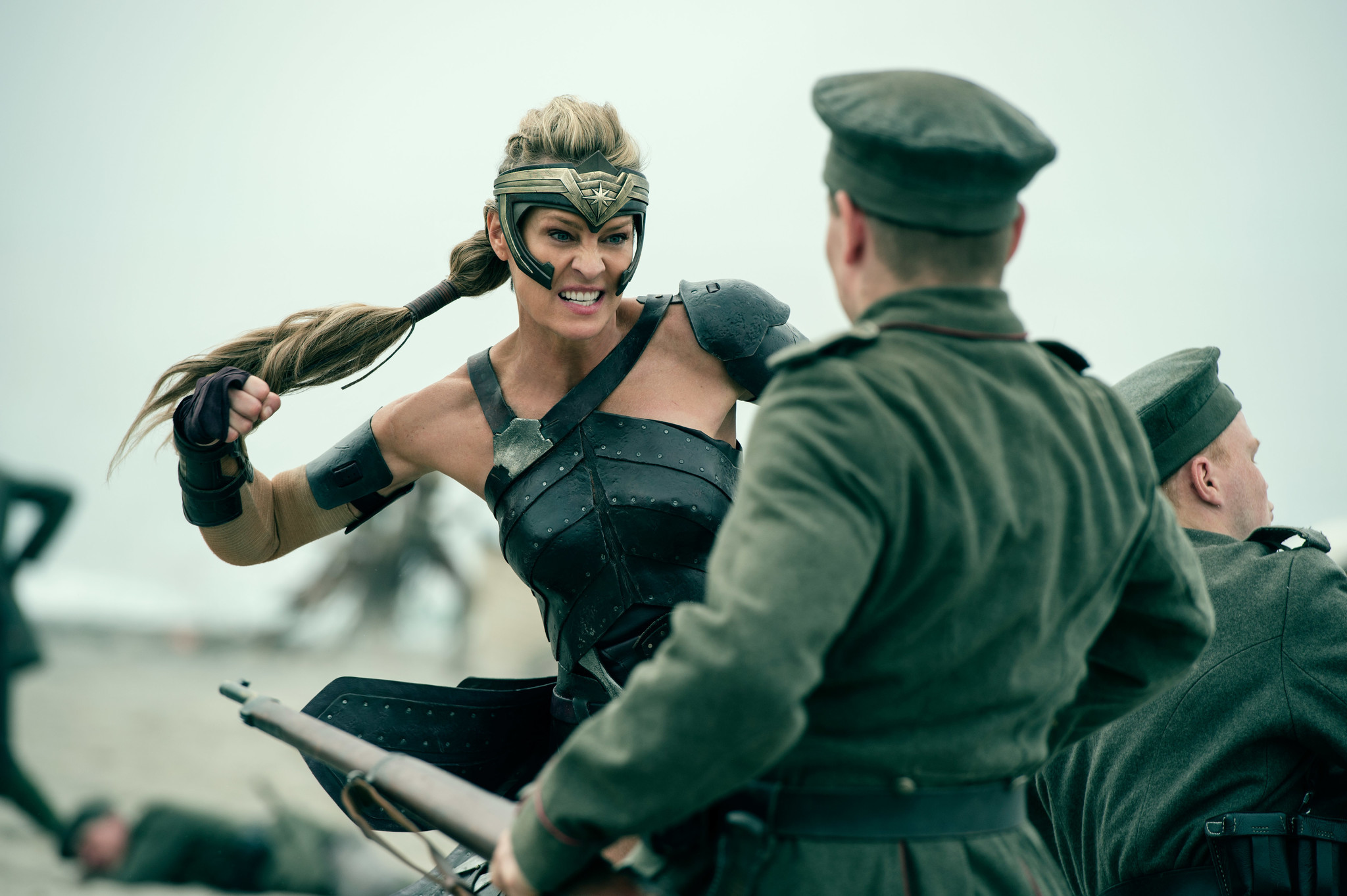 "Robin Wright as General Antiope in the film ""Wonder Woman."""
