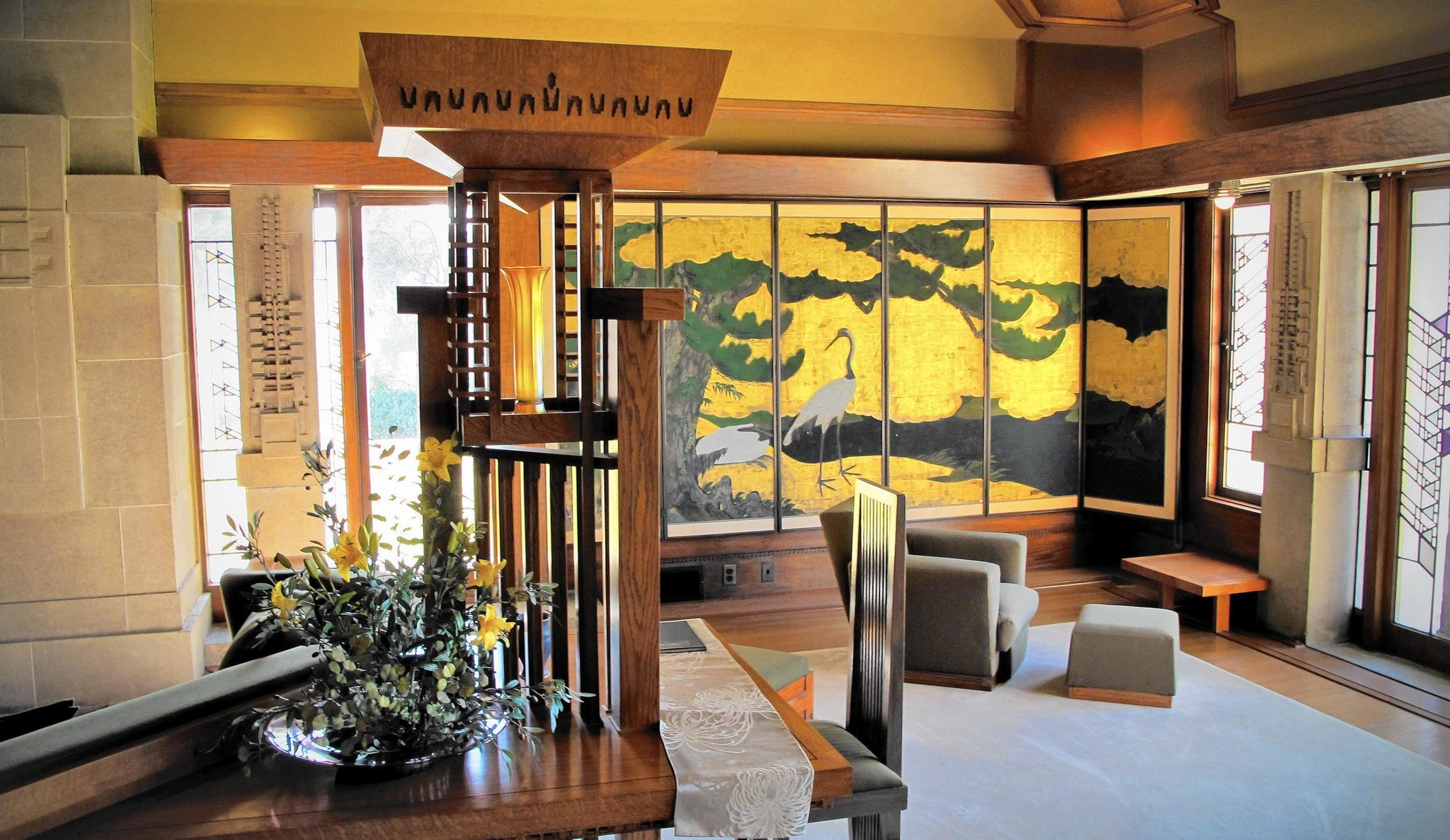 frank lloyd wright interiors. Black Bedroom Furniture Sets. Home Design Ideas