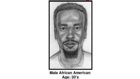 A composite sketch shows a person of interest in the killing of Jeffrey Tidus.