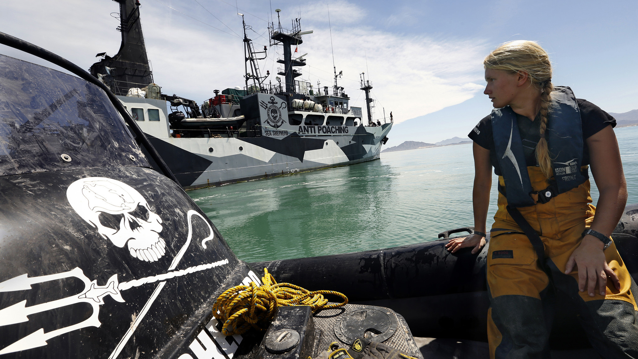 """The Sea Shepherd activists embrace an attitude that could be called """"pirate-punk."""""""