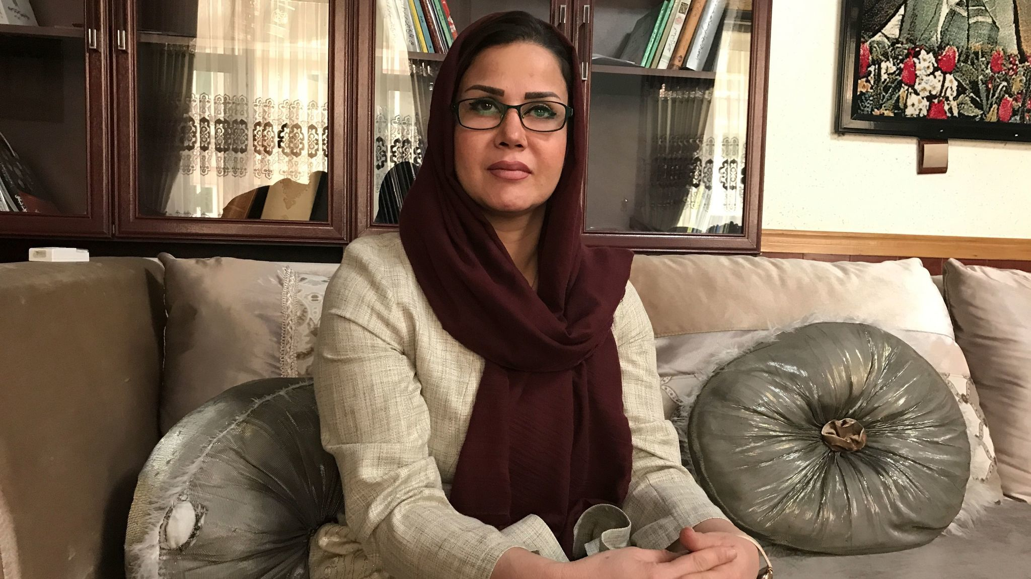 Waheeda Mohaqeq, 42, is considering running for office in Afghanistan if her husband approves.