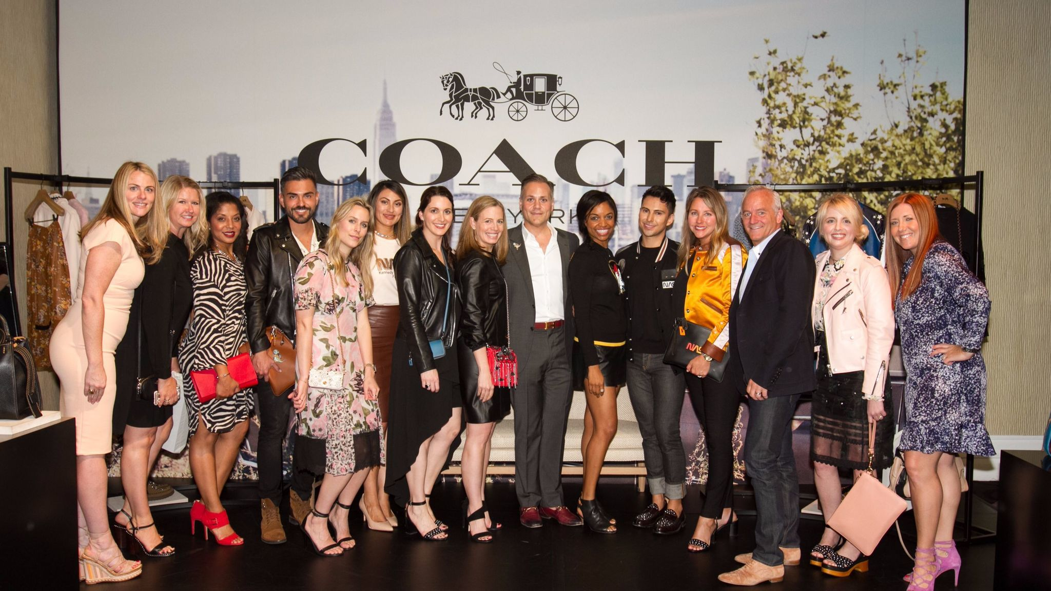 Executives and representatives from Coach, the New York-based apparel and accessories brand that sponsored the event, are on hand for the festivities. The Coach Foundation gave $3 million over three years to Step Up.