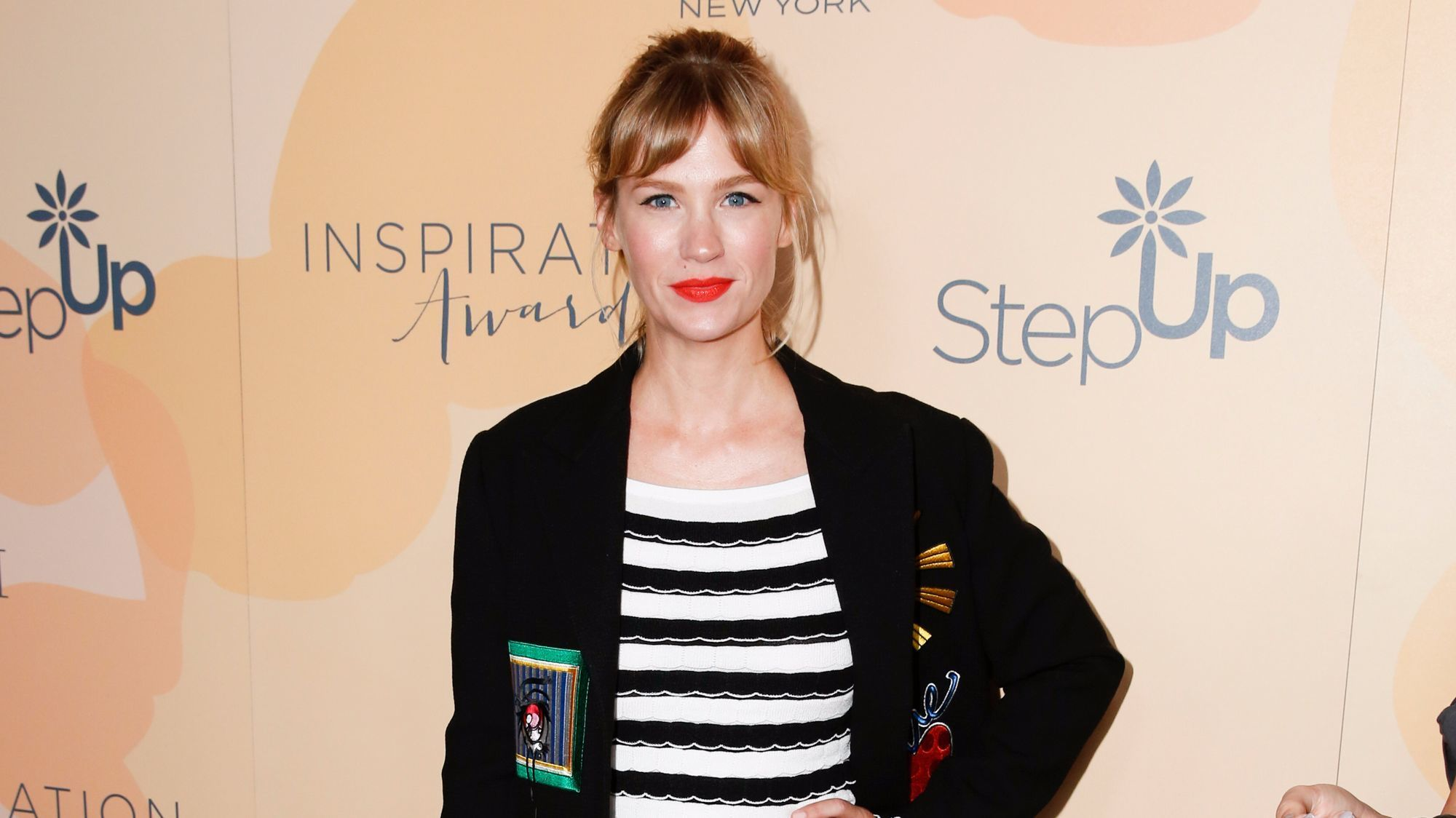 January Jones was among the celebrity attendees who stepped out to the Step Up luncheon.
