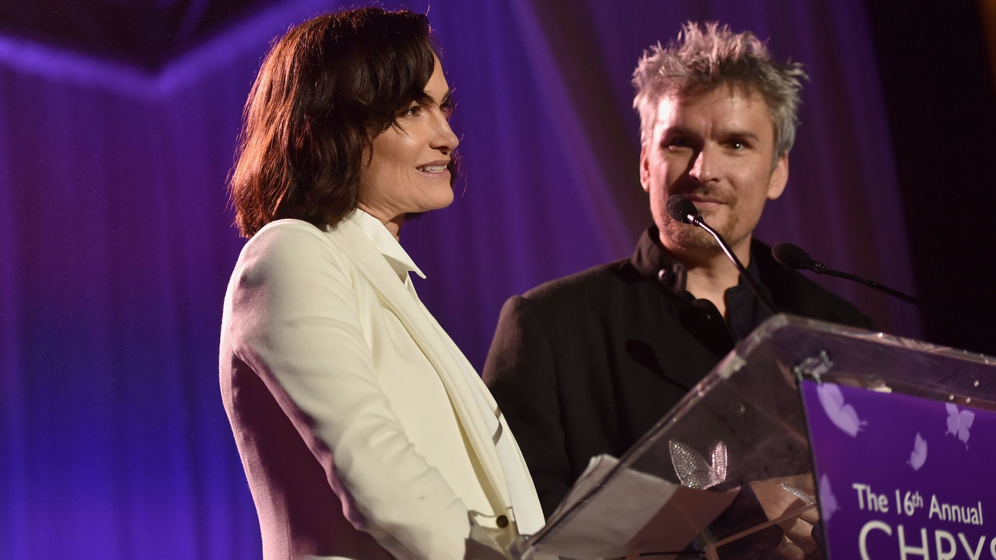 Rosetta and Balthazar Getty accept the Spirit of Chrysalis Award at the Chrysalis Butterfly Ball.