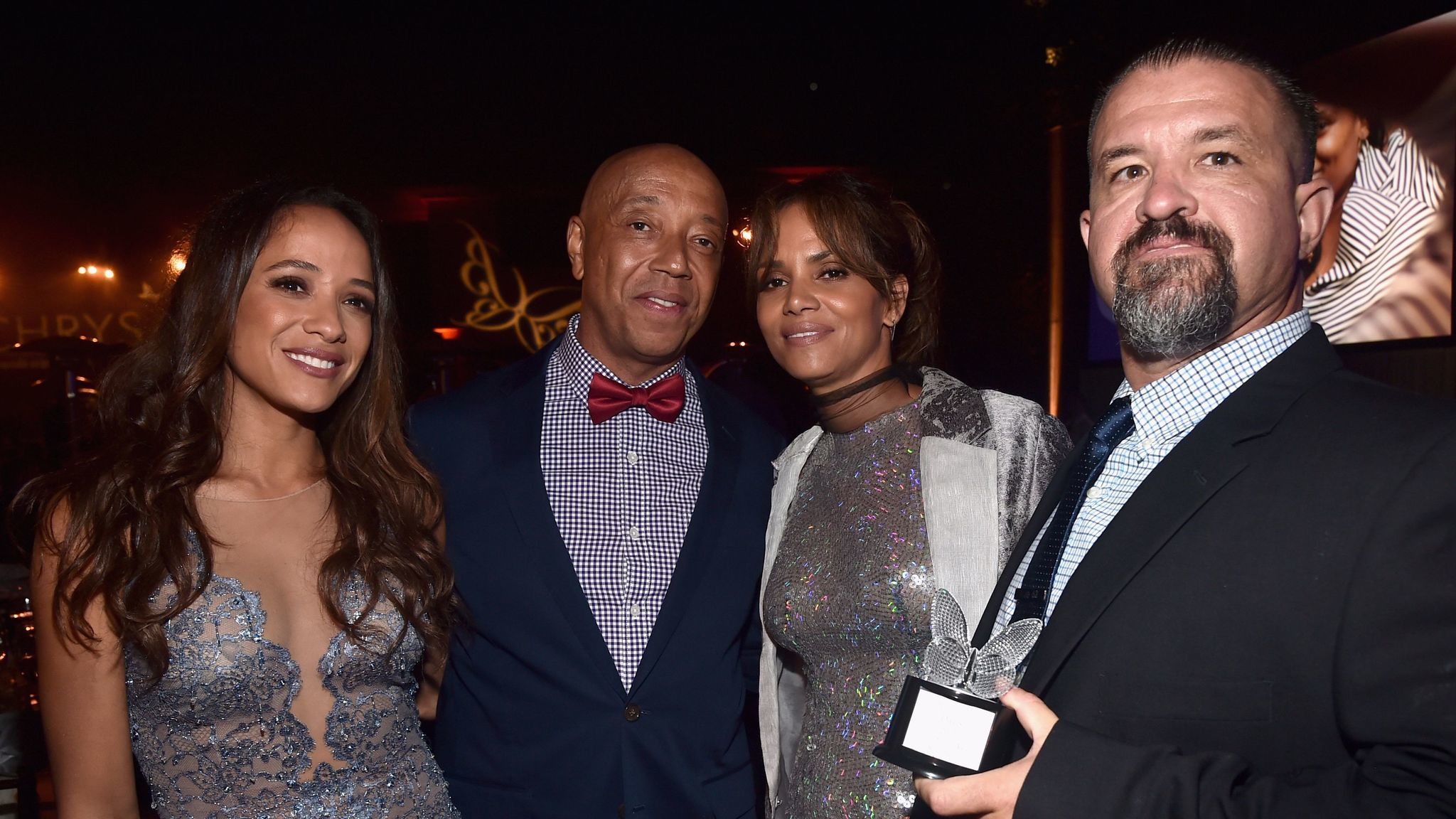 Dania Ramirez, from left, Russell Simmons, Halle Berry and honoree Raymond Davis.