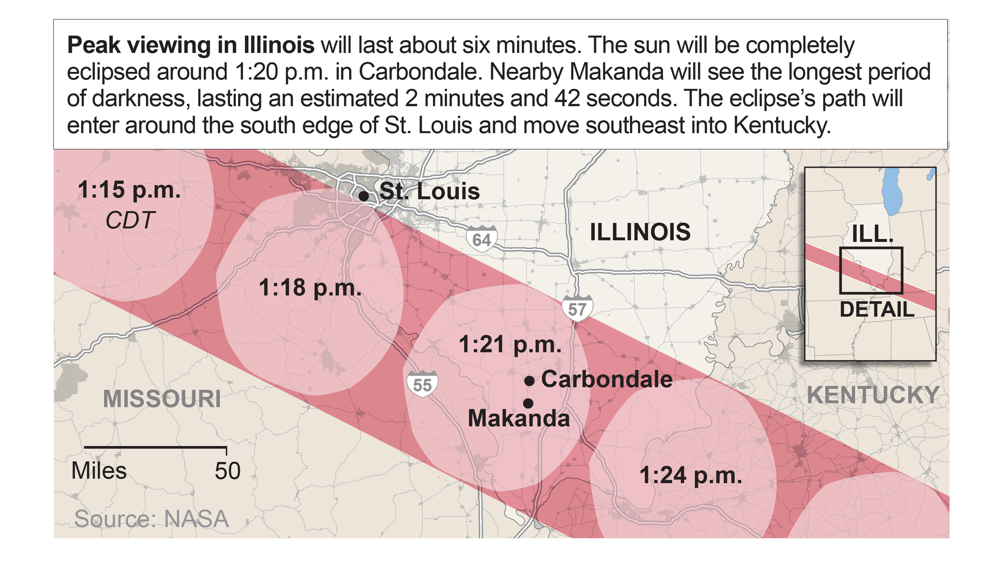 Solar Eclipse In Southern Illinois Chicago Tribune