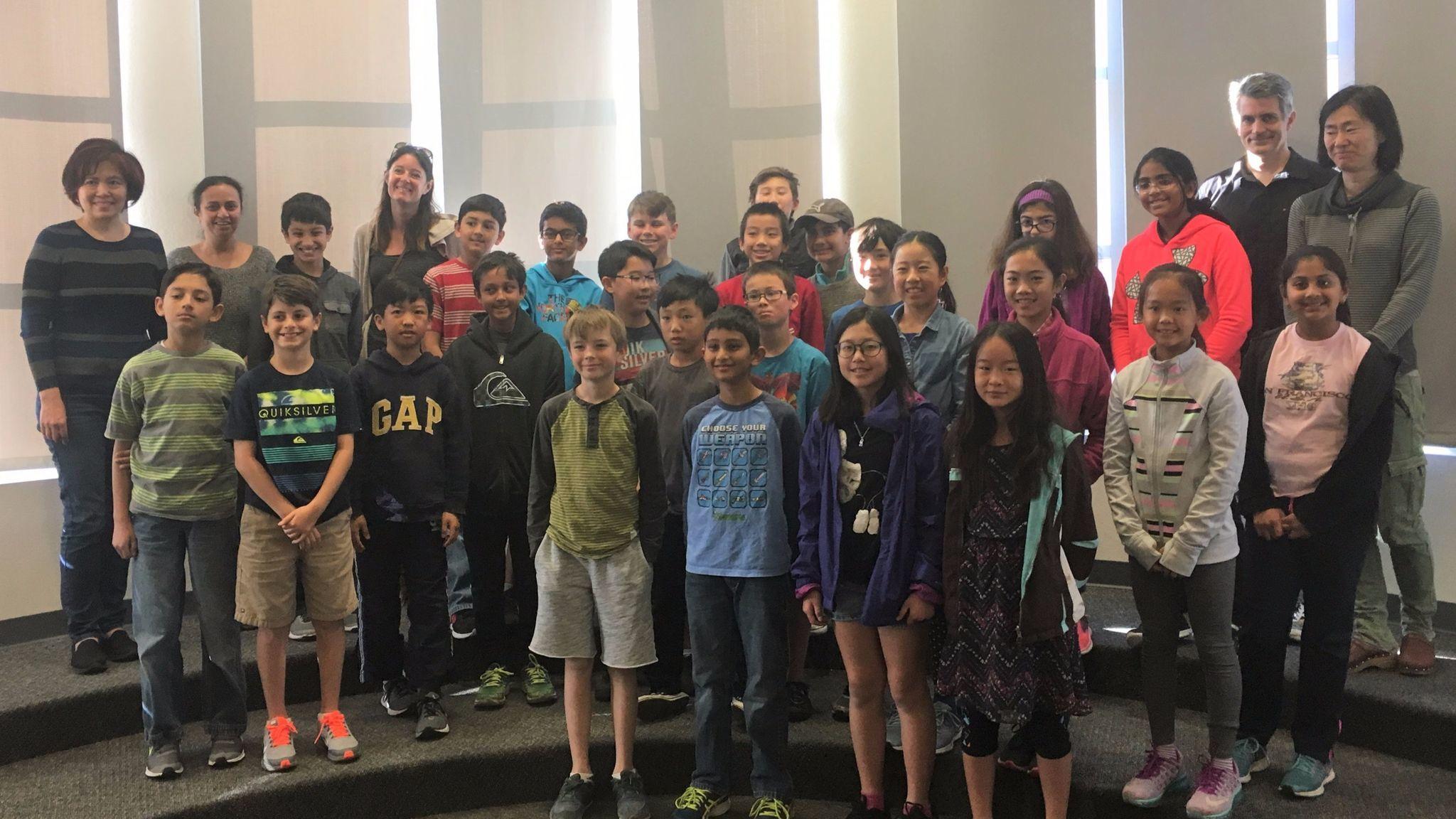 Ocean Air Math Club fifth graders.
