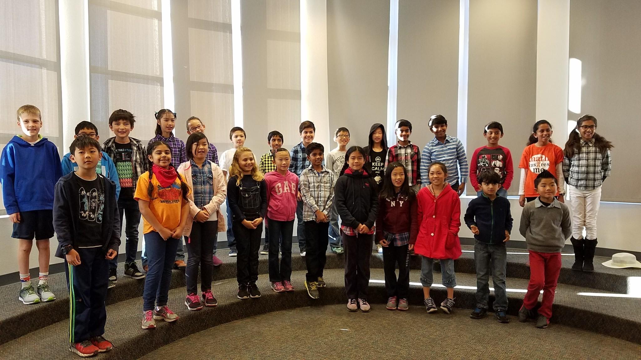 Fourth grade Math Club members.