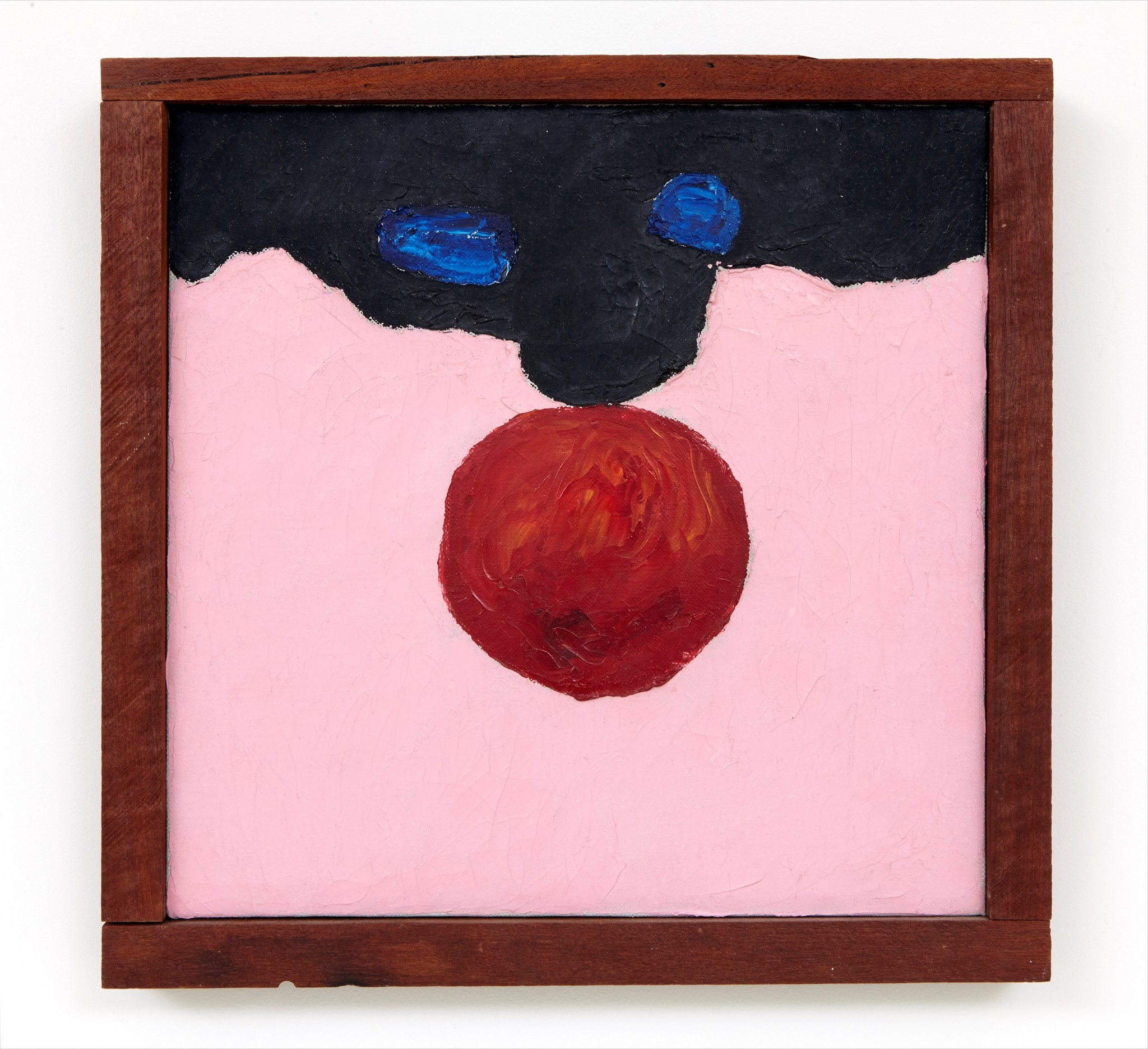 "Forrest Bess, ""Untitled No. 6,"" 1957, oil on canvas in artist's frame, 11.5 inches by 11.75 inches."