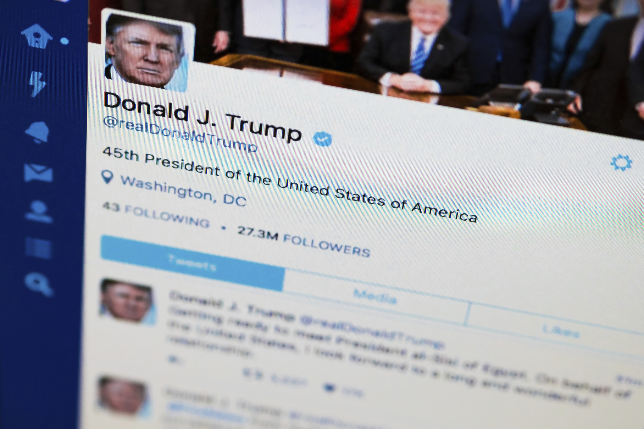 6e935bd532d8 There may be no better window into President Trump  s mind than his  prolific Twitter feed — an unvarnished digital log of what s piquing the  leader of the ...