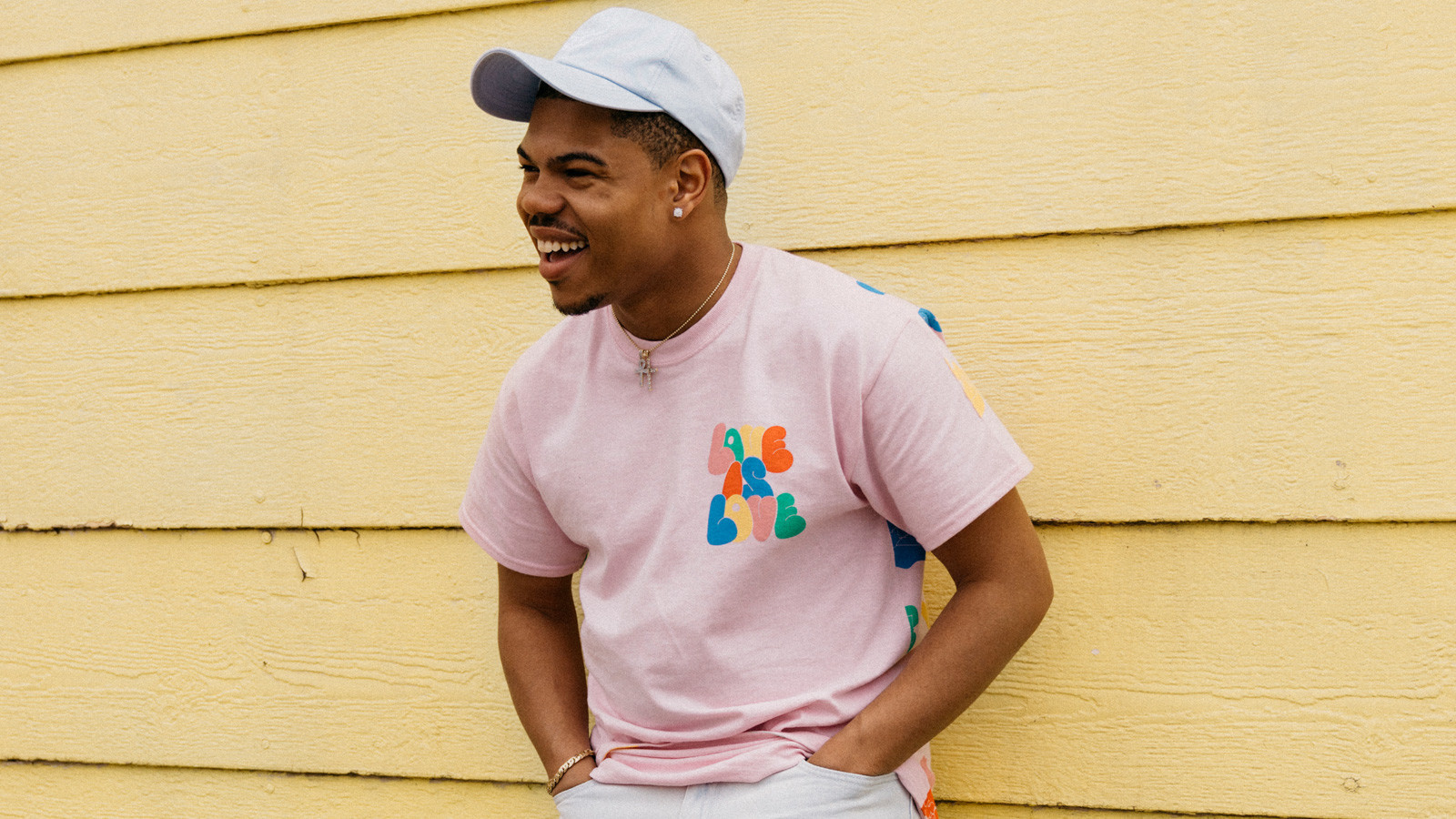 Chicago hip-hop artist Taylor Bennett is part of Urban Outfitters' campaign for the brand's colorful pride collection of goods.