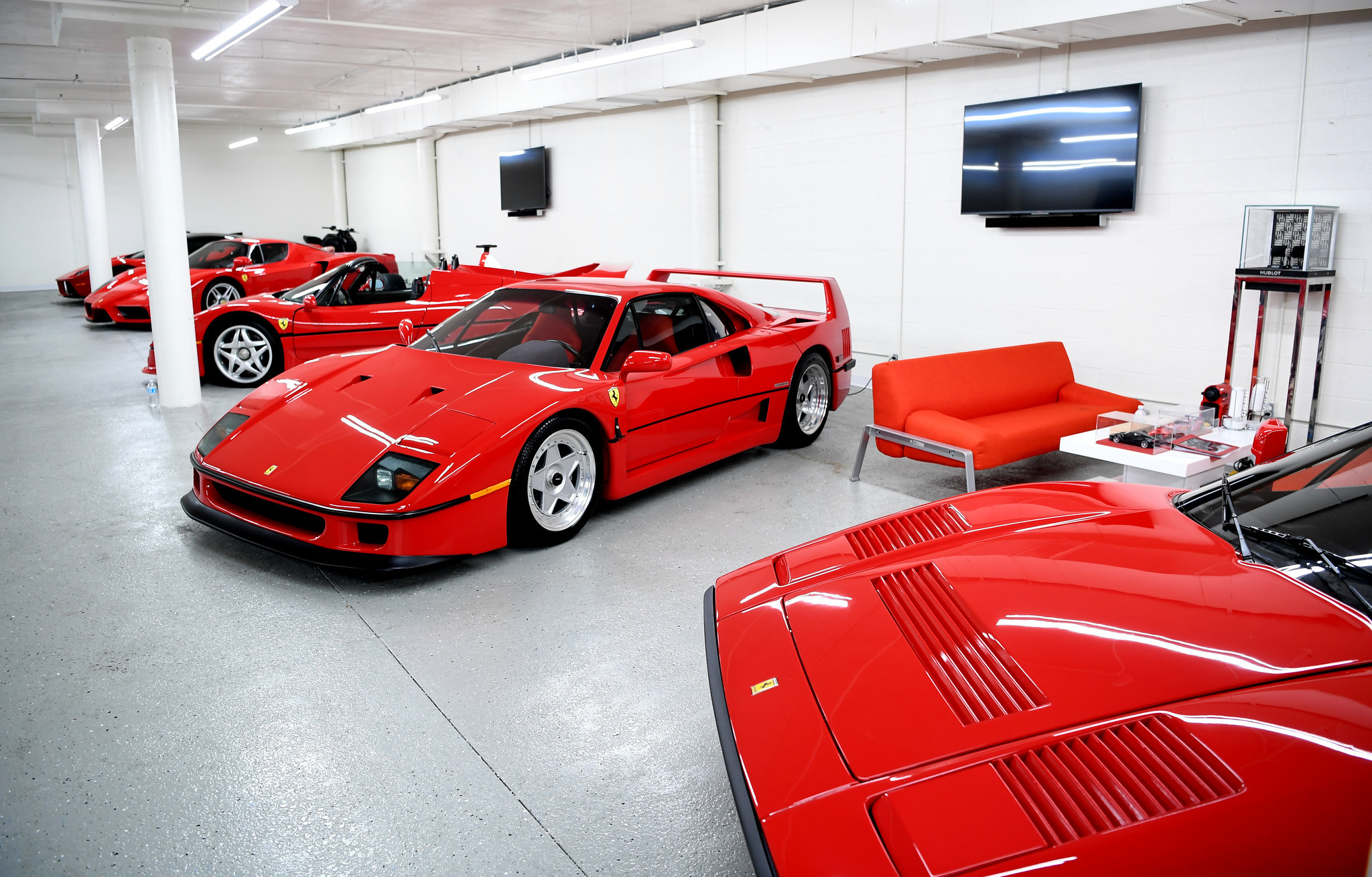 "Five cars from David Lee's special Ferrari ""super car"" collection are together valued at more than $15 million."