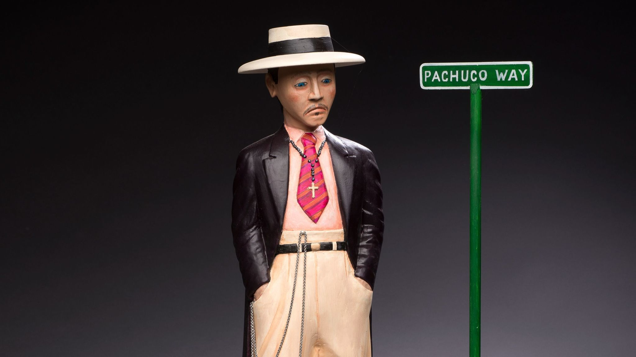 """Pachuco Way,"" 2016, by Luis Tapia, at the Museum of Latin American Art."