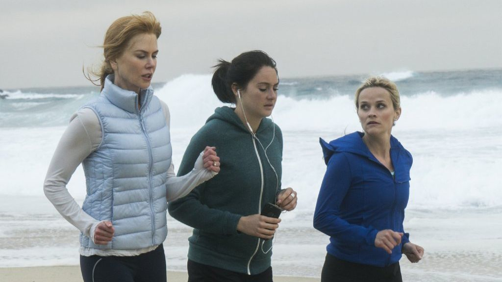 """Nicole Kidman, from left, Shailene Woodley and Reese Witherspoon in a scene from """"Big Little Lies."""""""