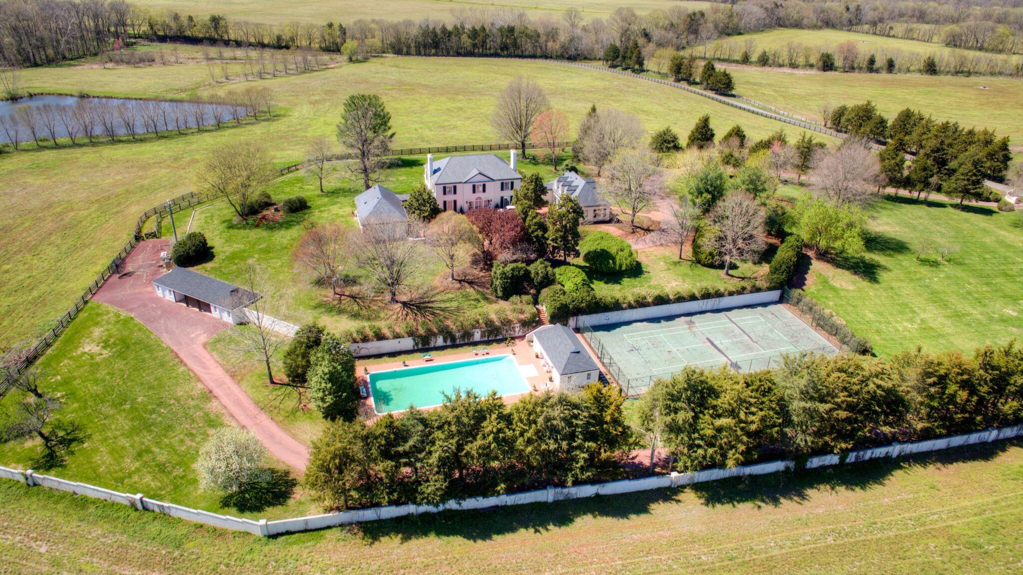 Rapidan Farm features multiple structures, a swimming pool and a tennis court on 1,700 acres in Culpeper, Va.