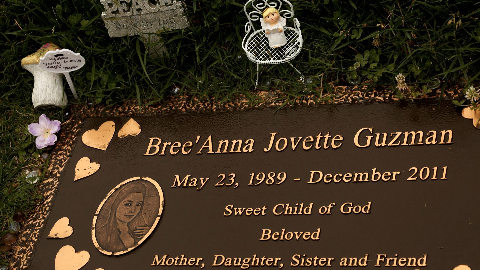 The gravesite of Bree'Anna Jovette Guzman at Forest Lawn Memorial Park in Glendale.