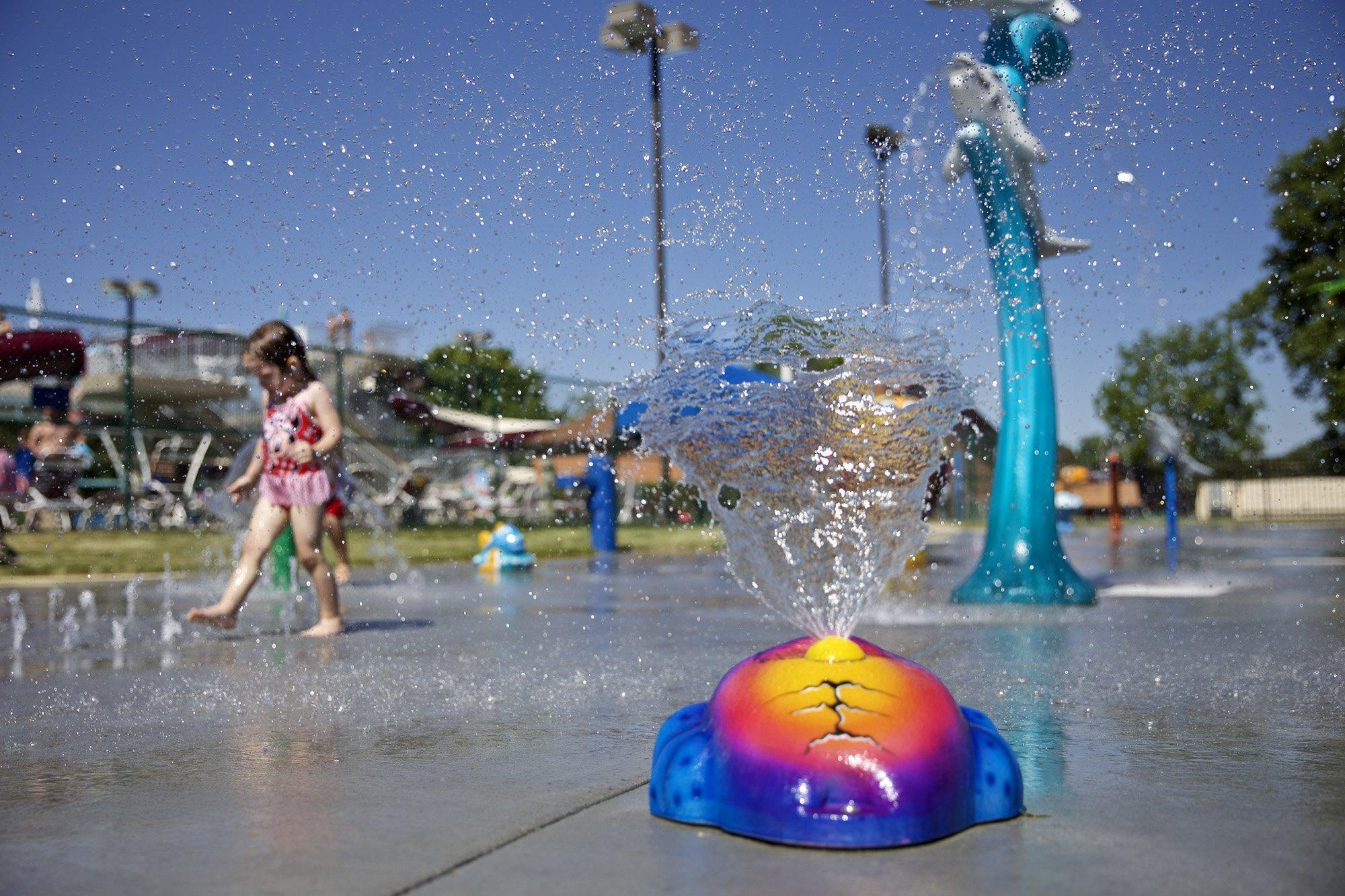 Built For Community New Splash Pad Opens At Langendorf