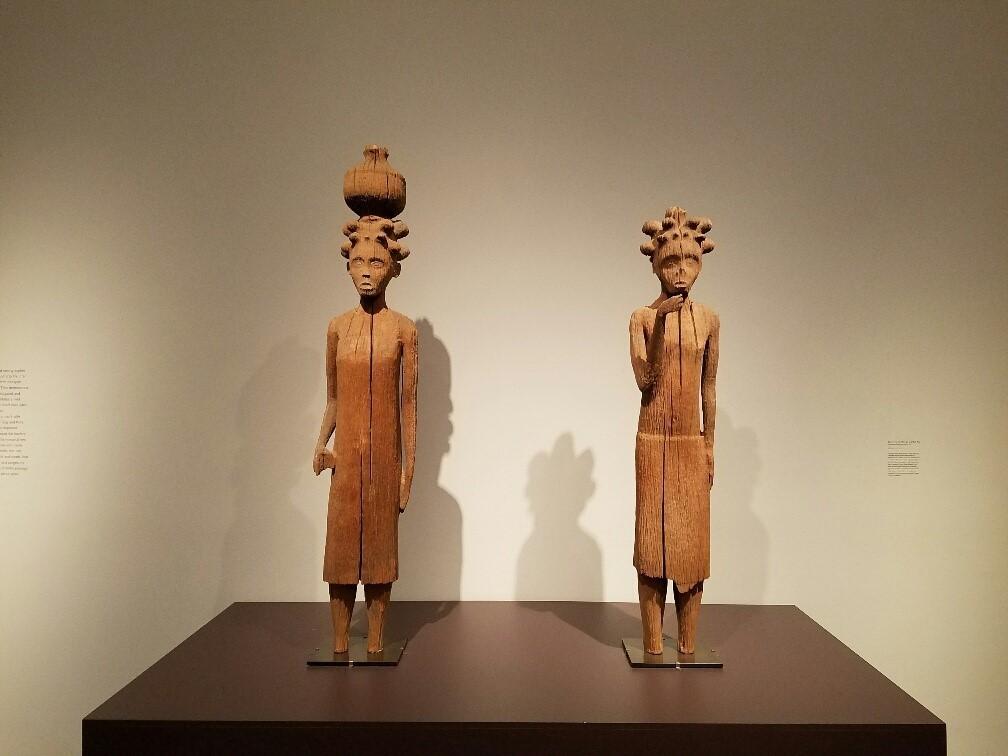 Royal tomb guardians, carved circa 1897, from Madagascar's Sakalava culture.