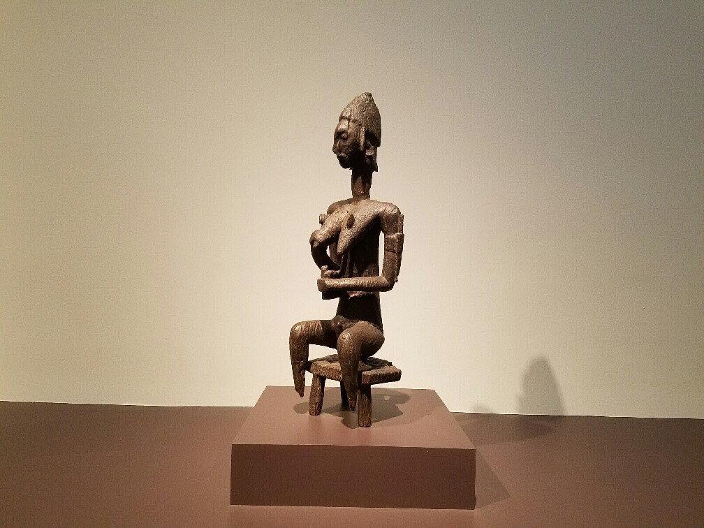 """""""Mother and Child Figure for the Gwan Assoc.,"""" a wood carving from Mali, circa 1279-1395."""
