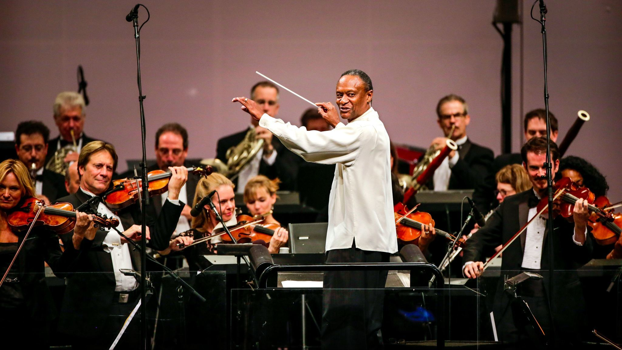 Wilkins at work with the Hollywood Bowl Orchestra in 2013.