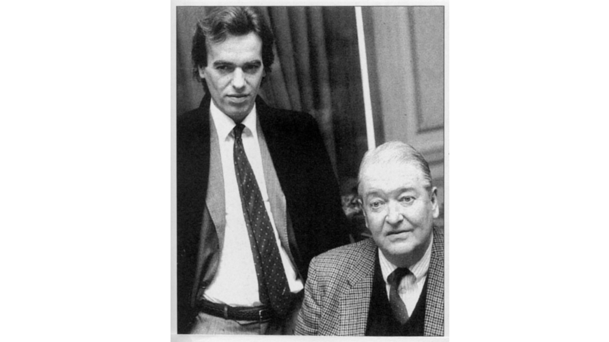 Martin Amis, left, with his father Kingsley Amis.
