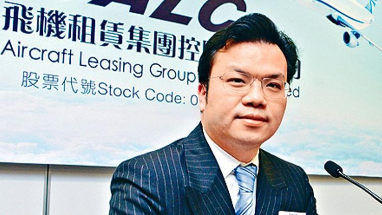 Mike Poon Ho Man, former chief executive of China Aircraft Leasing Group Holdings, at a news confere