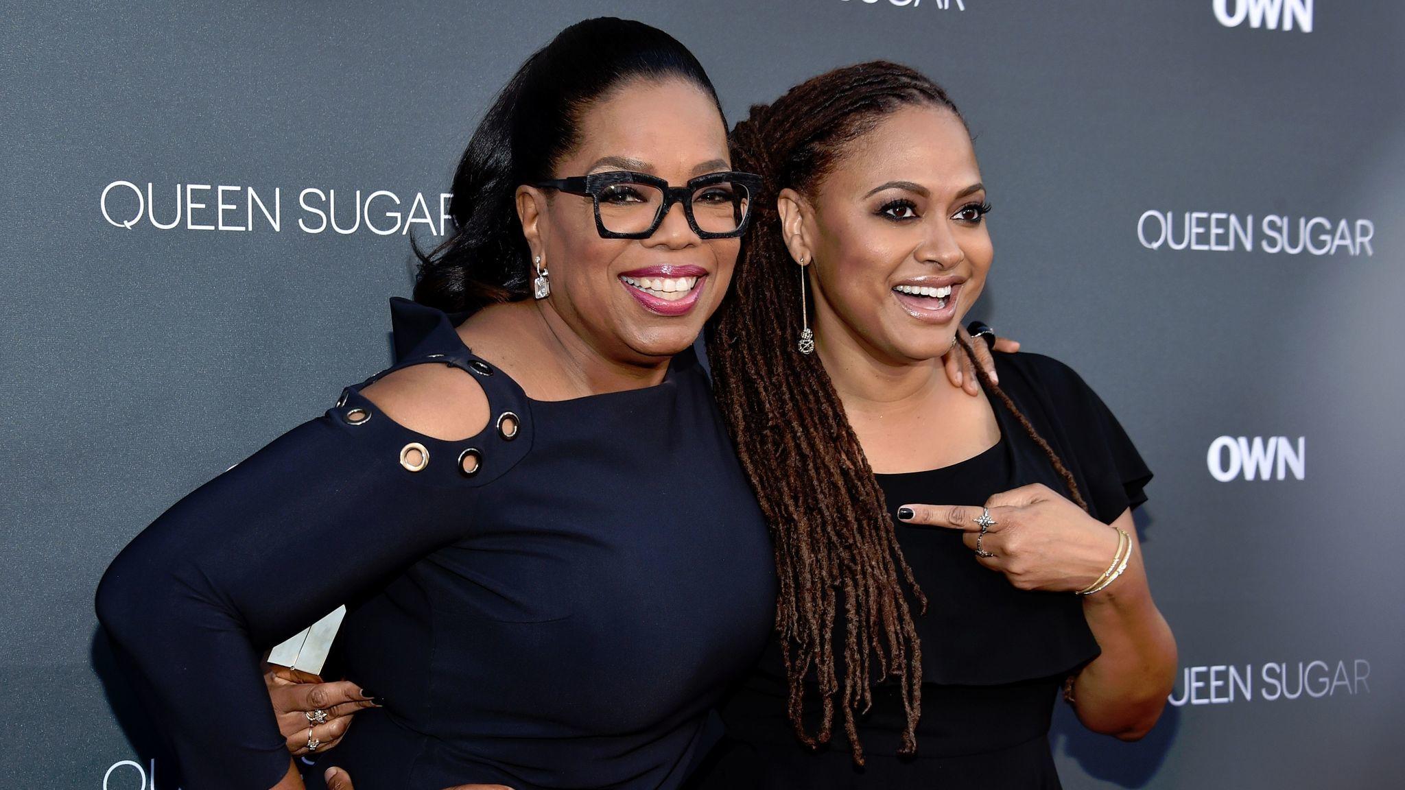 Oprah Winfrey, left, and Ava DuVernay at the Warner Bros. Studio Lot Steven J. Ross Theater on Aug.29, 2016 in Burbank, Calif.