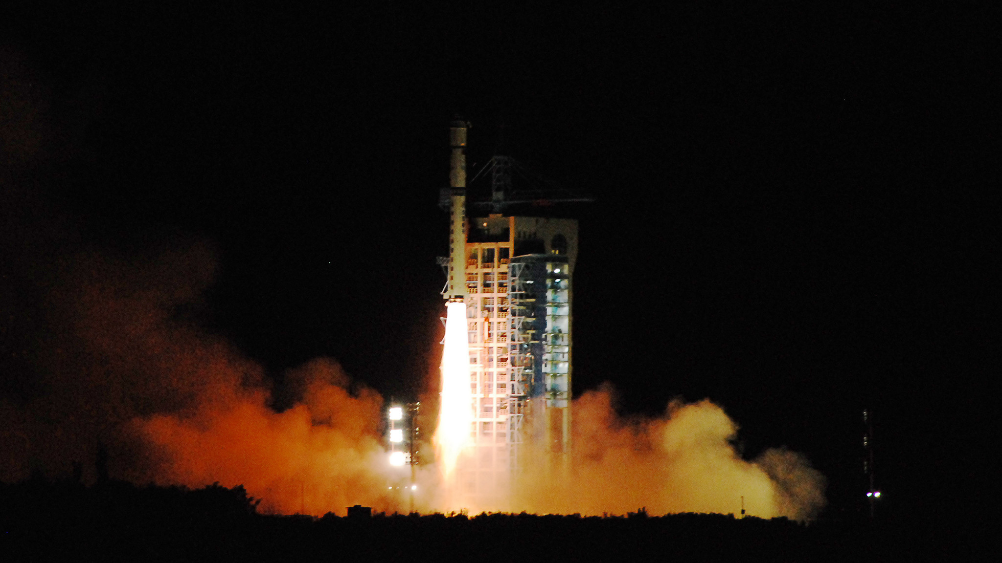 China's quantum satellite, nicknamed Micius after an ancient Chinese scientist, blasts off from Gansu province last August.