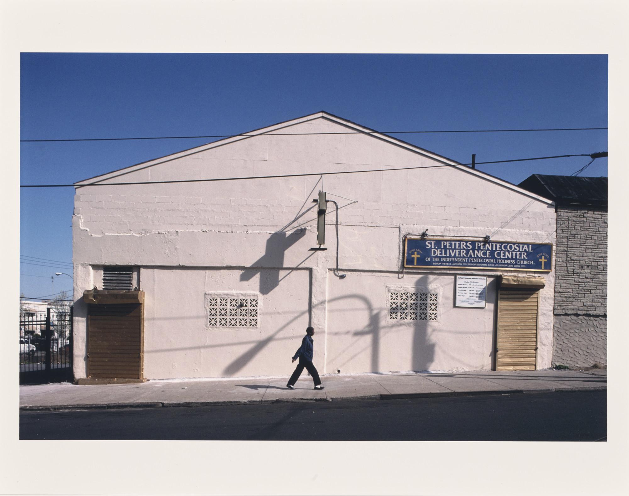 "Camilo José Vergara's ""Saint Peter's Pentecostal Deliverance Center, 937 Home Street, South Bronx, 2002."""