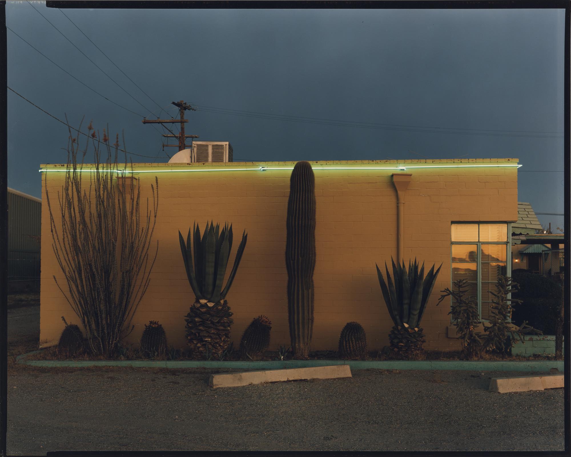 "Steve Fitch's ""Greyhound Park Motel, Tucson, Arizona, 12/30/80."""