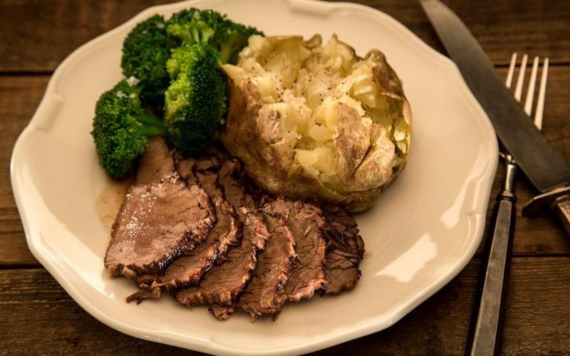 Mistral's red wine-braised tri-tip pot roast
