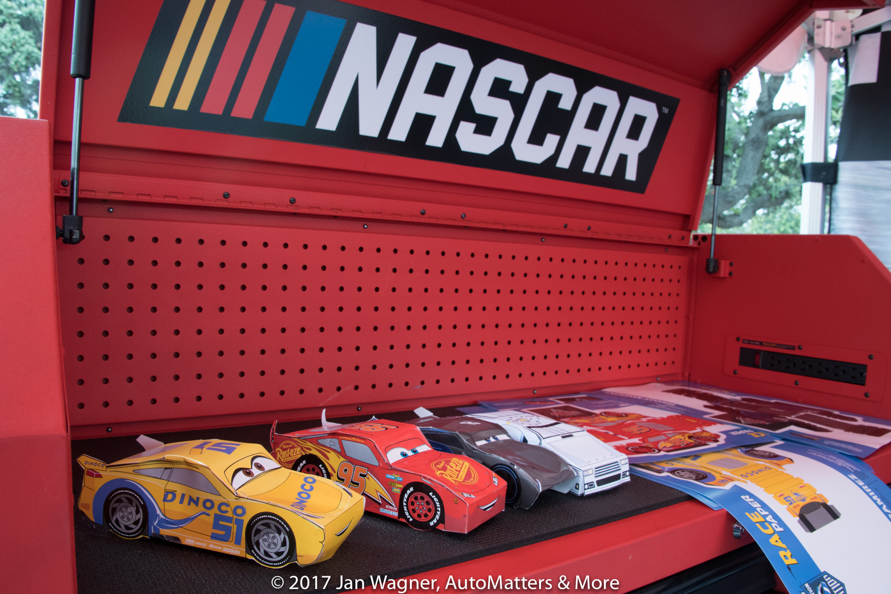 "Cars made at the ""Cars 3"" ""Road to the Race"" Nationwide Tour in San Diego."