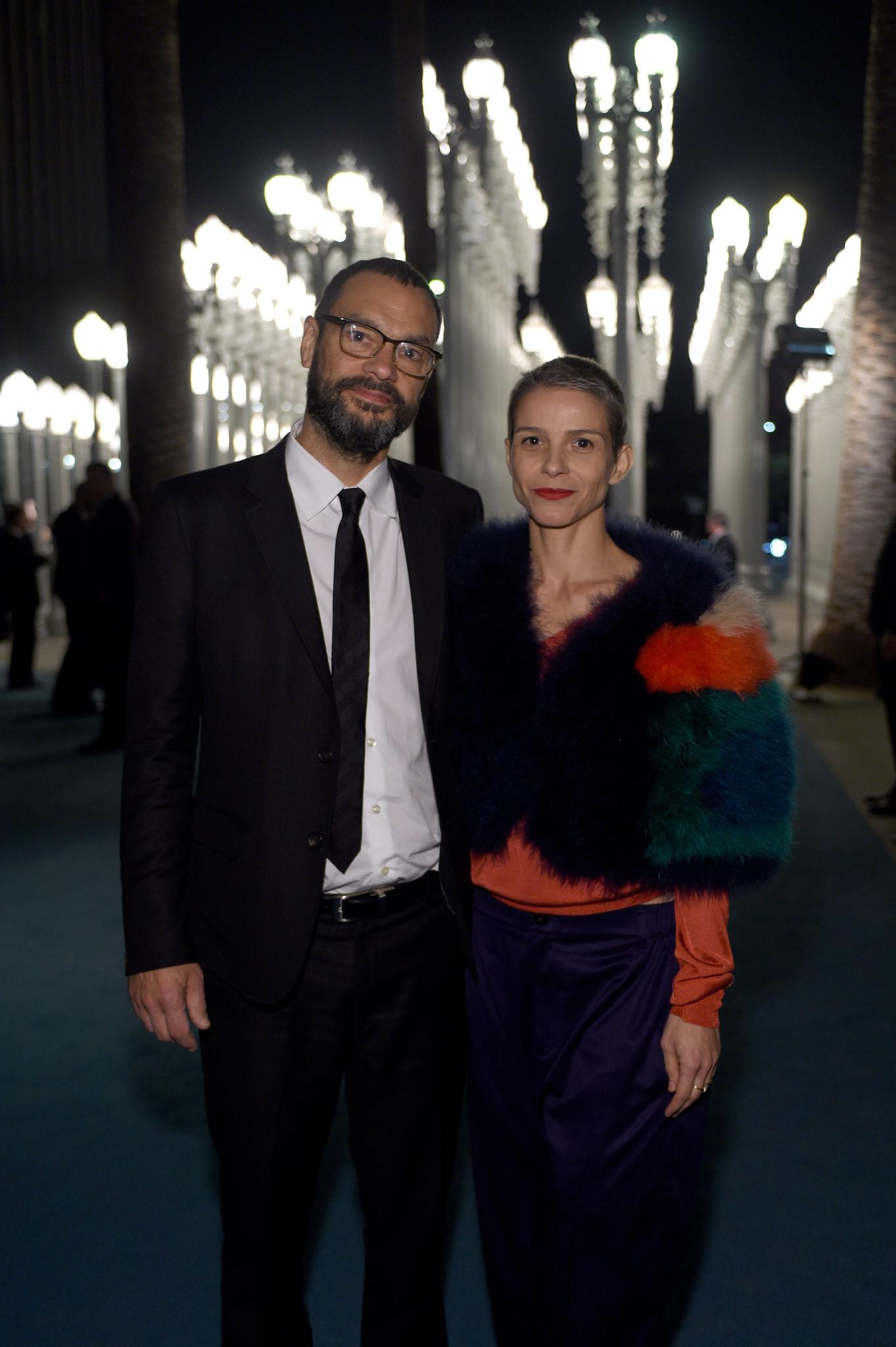 Artists Sam Durant and Ana Prvacki at LACMA 2015 Art+Film Gala honoring James Turrell and Alejandro G Iñárritu,