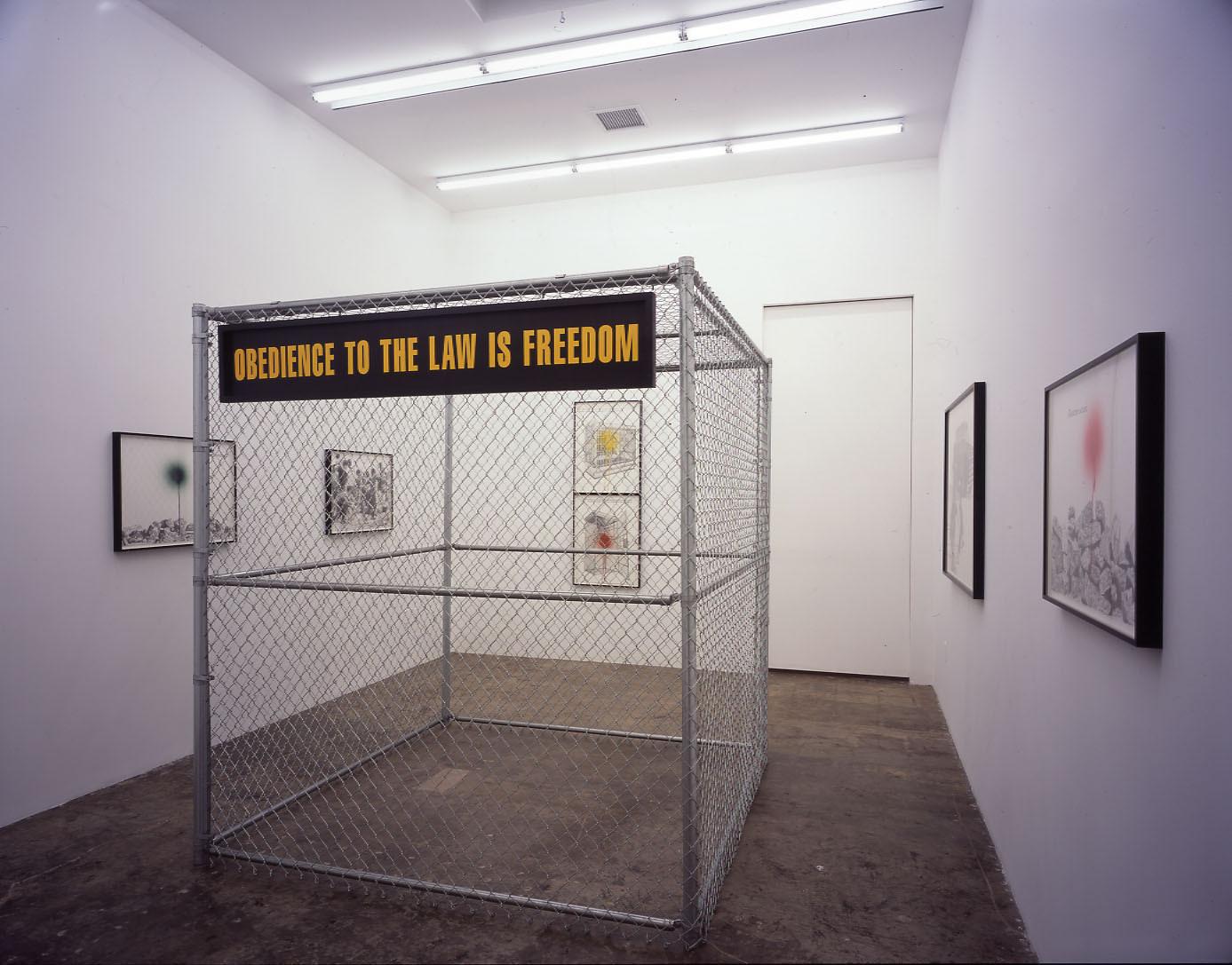 Sam Durant's exhibition,