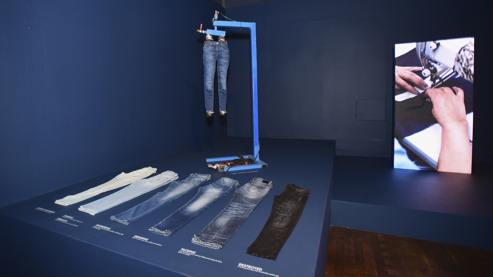 Denim at the Guess retrospective exhibit at the FIDM Museum in downtown Los Angeles.